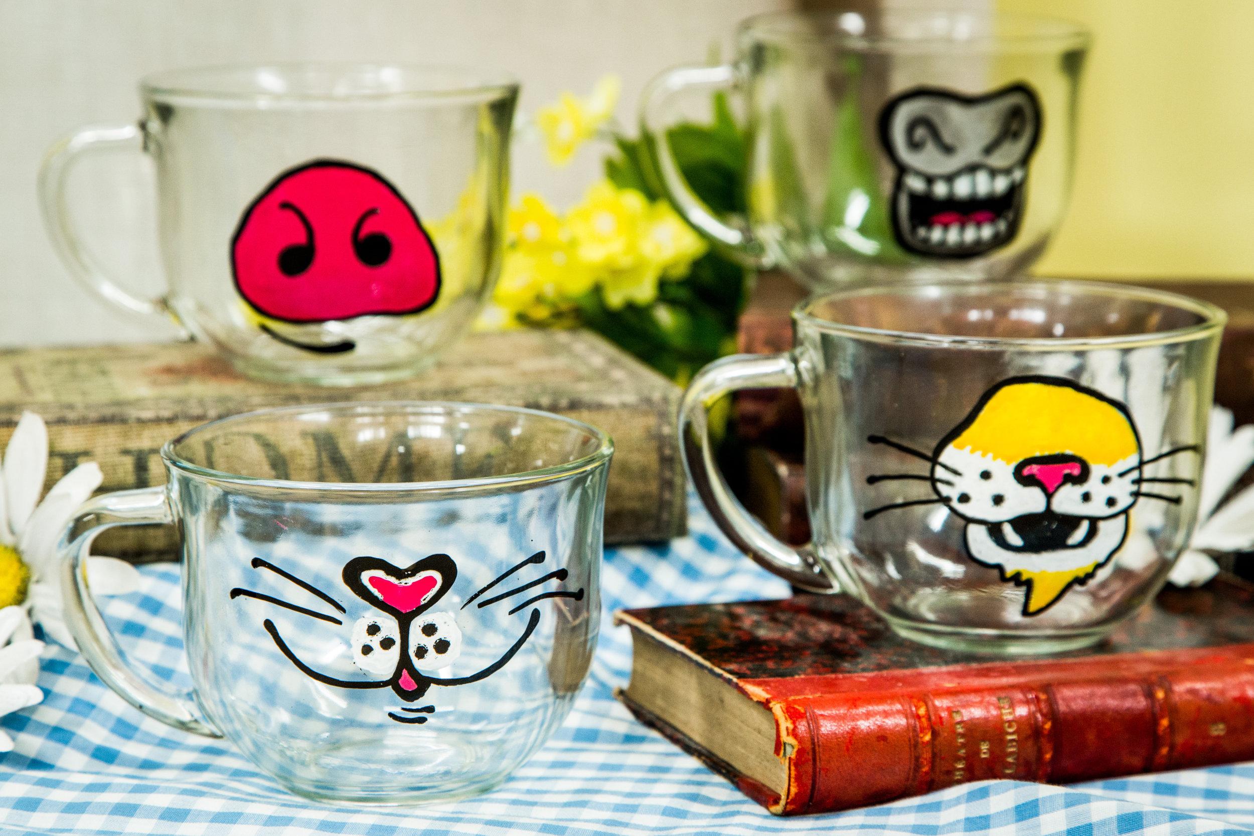 How to diy animal face mugs home family hallmark for Animal face mugs
