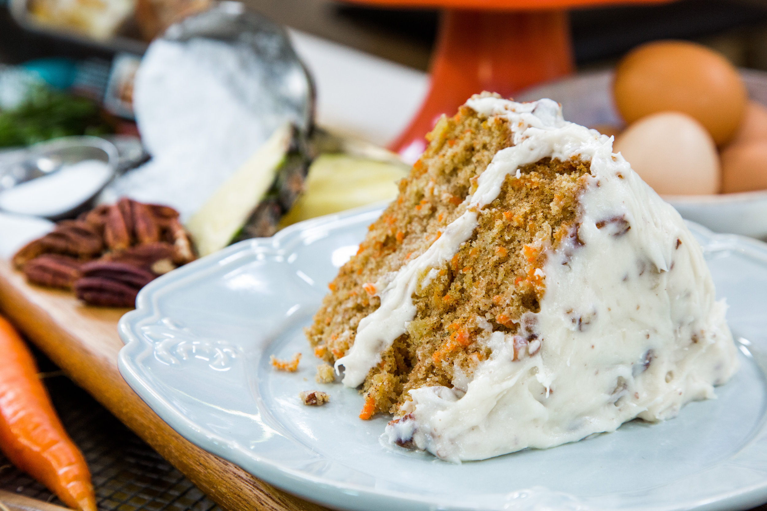 Carrot cake with pecan frosting home family hallmark channel forumfinder Choice Image