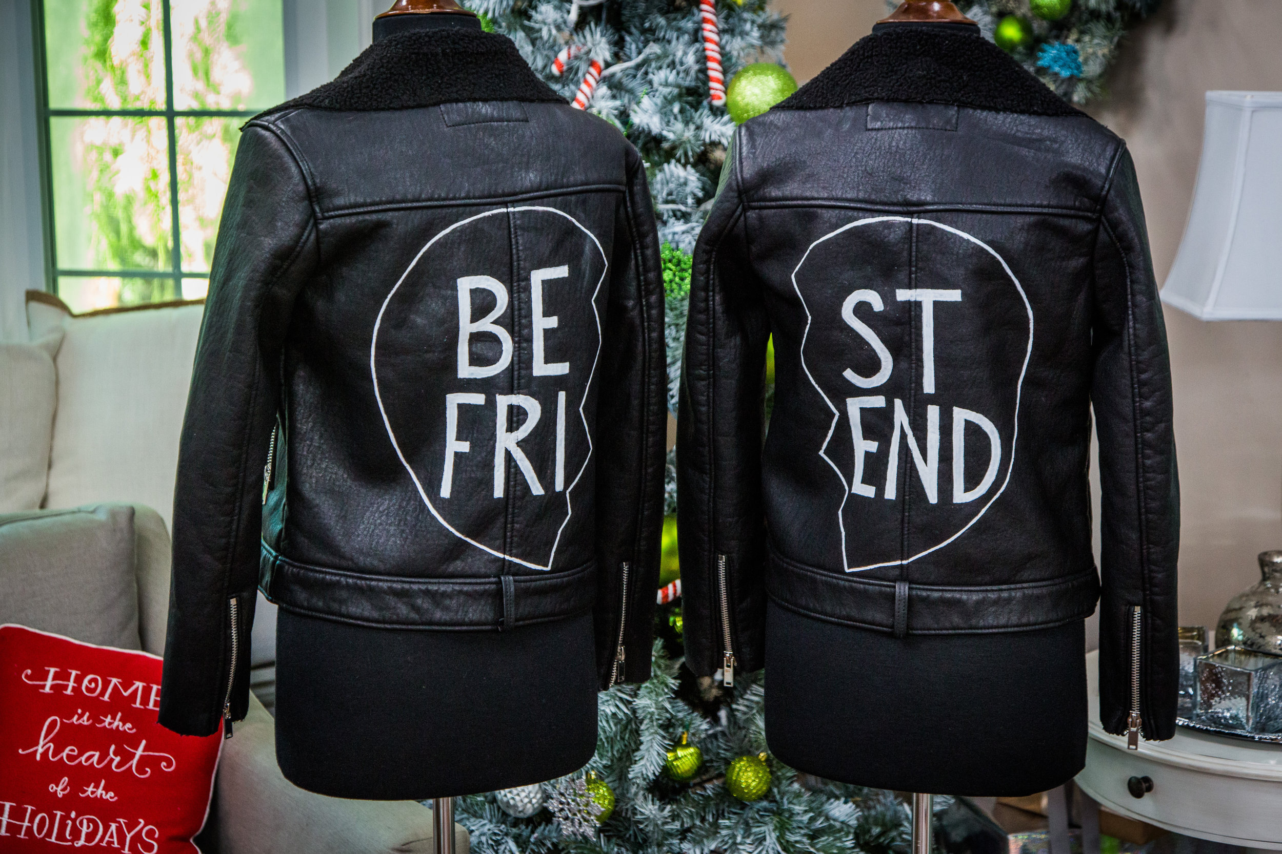 Leather jacket diy - How To Diy Best Friend Leather Jacket Home Family Hallmark Channel
