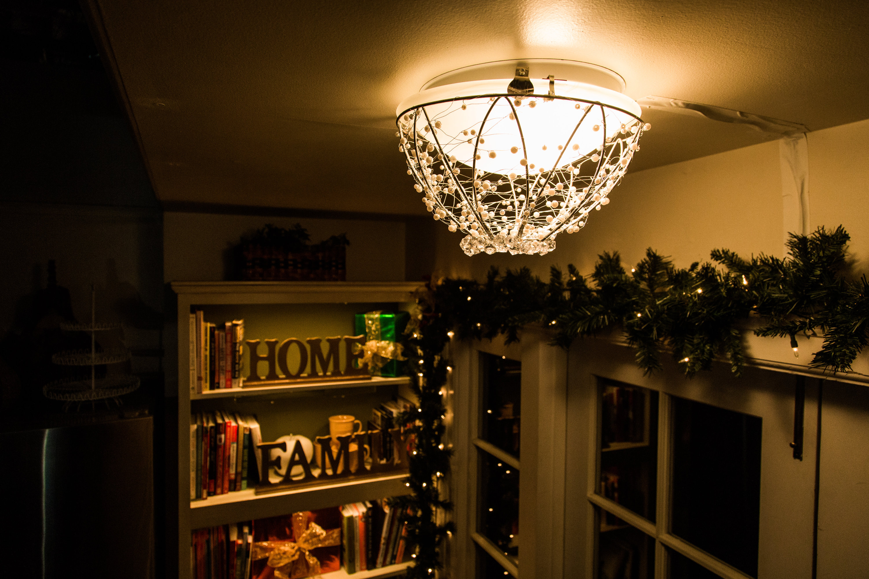 How To DIY Crystal Chandelier Home & Family