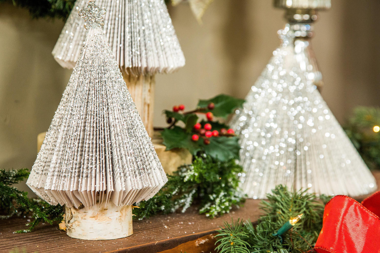 how to diy book page christmas tree hallmark channel - Christmas Tree Book