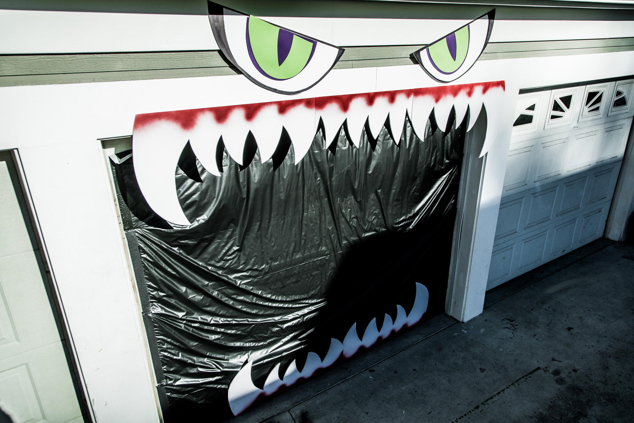 How To Diy Monster Garage Door Home Amp Family