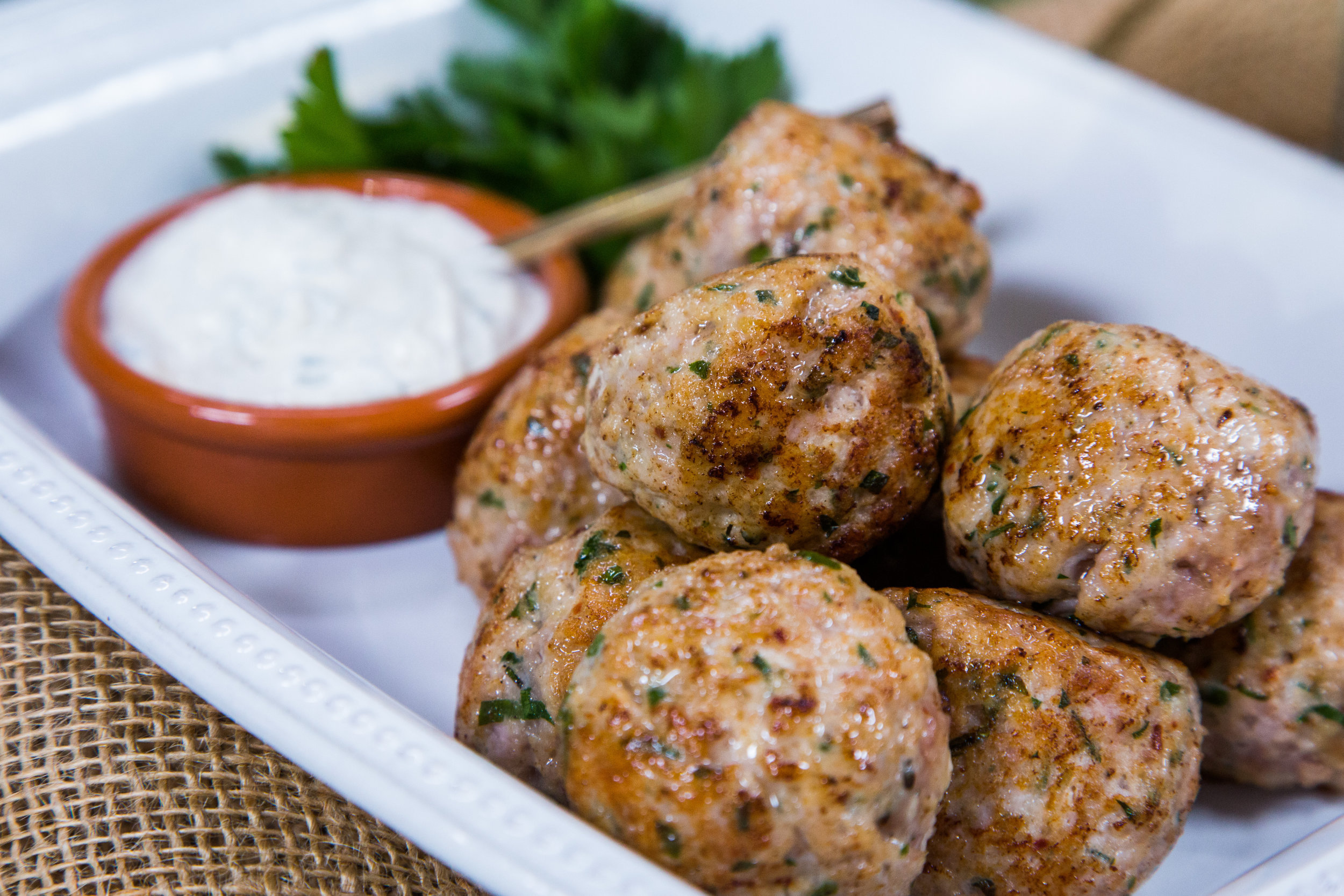 Recipes - Italian-Herbed Turkey & Pork Meatballs with ...