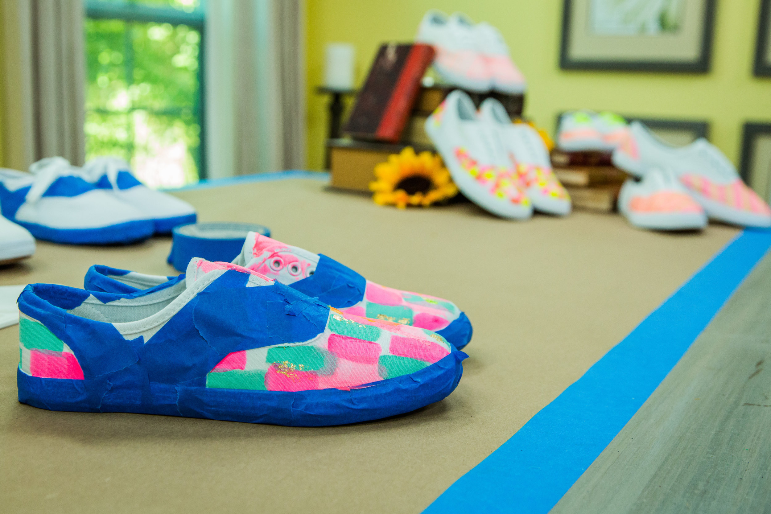how to diy custom painted canvas shoes home family