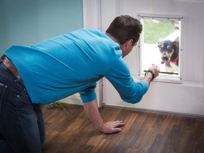 Diy Dog Doors mark's diy doggie door | hallmark channel
