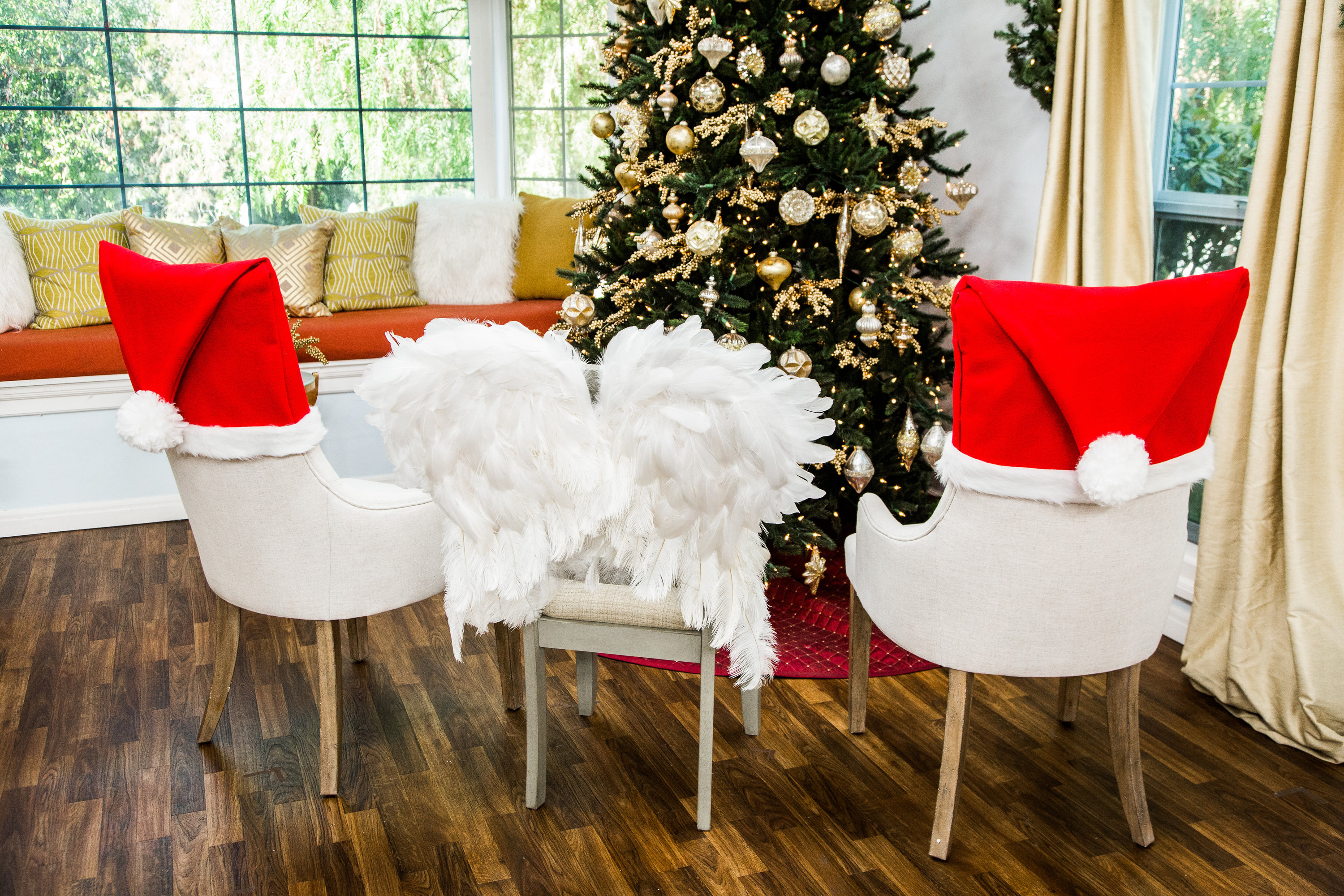 How To Diy Christmas Chair Covers Hallmark Channel