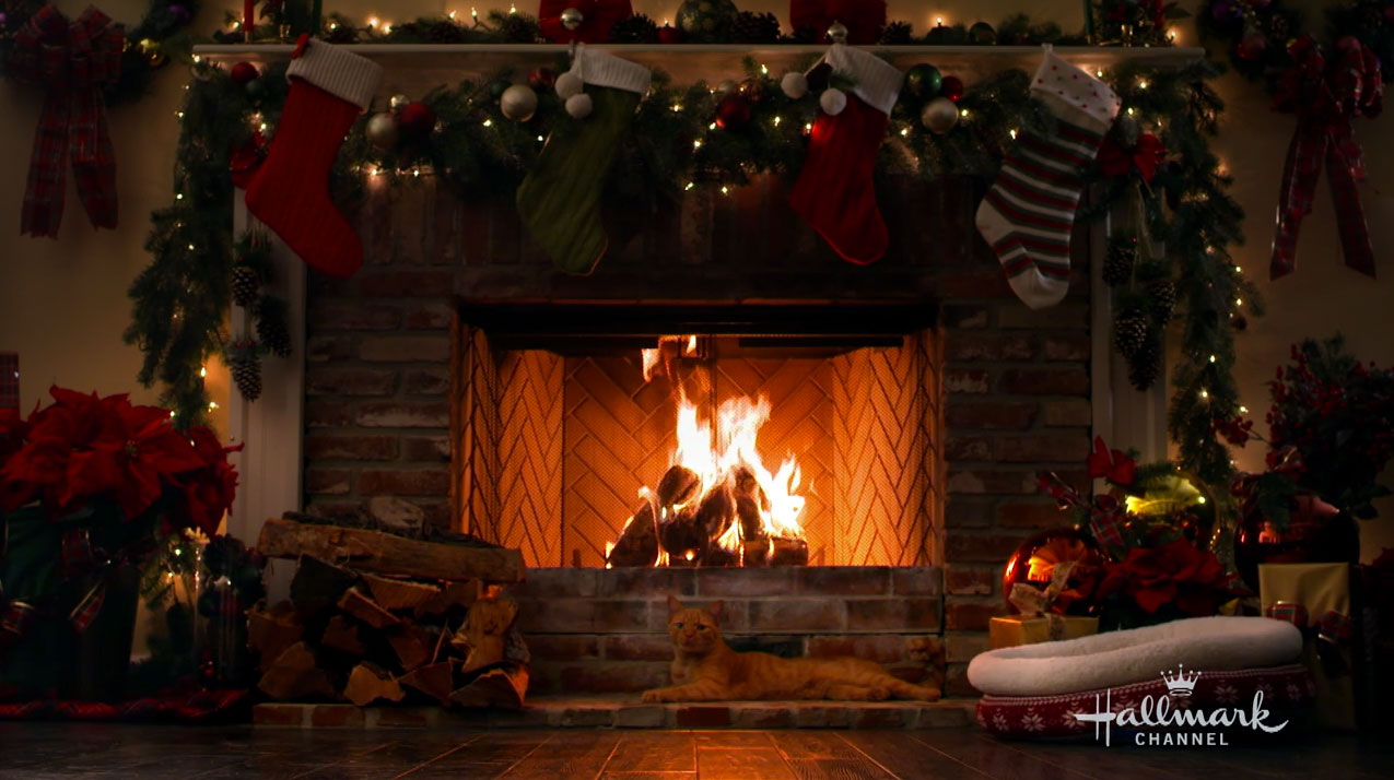 Happy The Cat The Holiday Yule Log Video Hallmark Channel