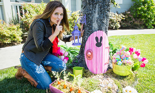 How to make your own easter bunny door Make your own bunny house