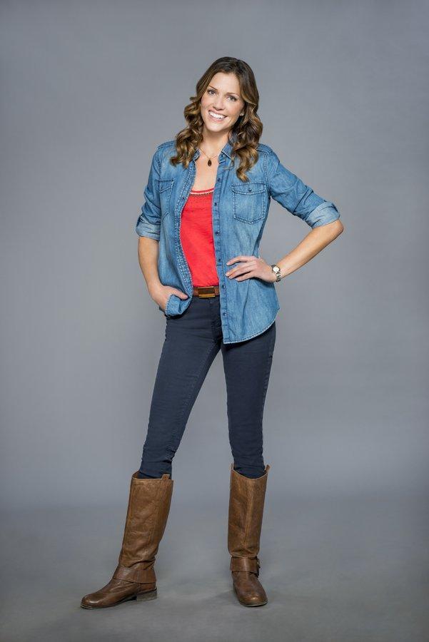 Tricia Helfer as Ryan on Finding Christmas | Hallmark Channel