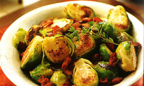 Braised Brussels Sprouts with Bacon | Hallmark Channel