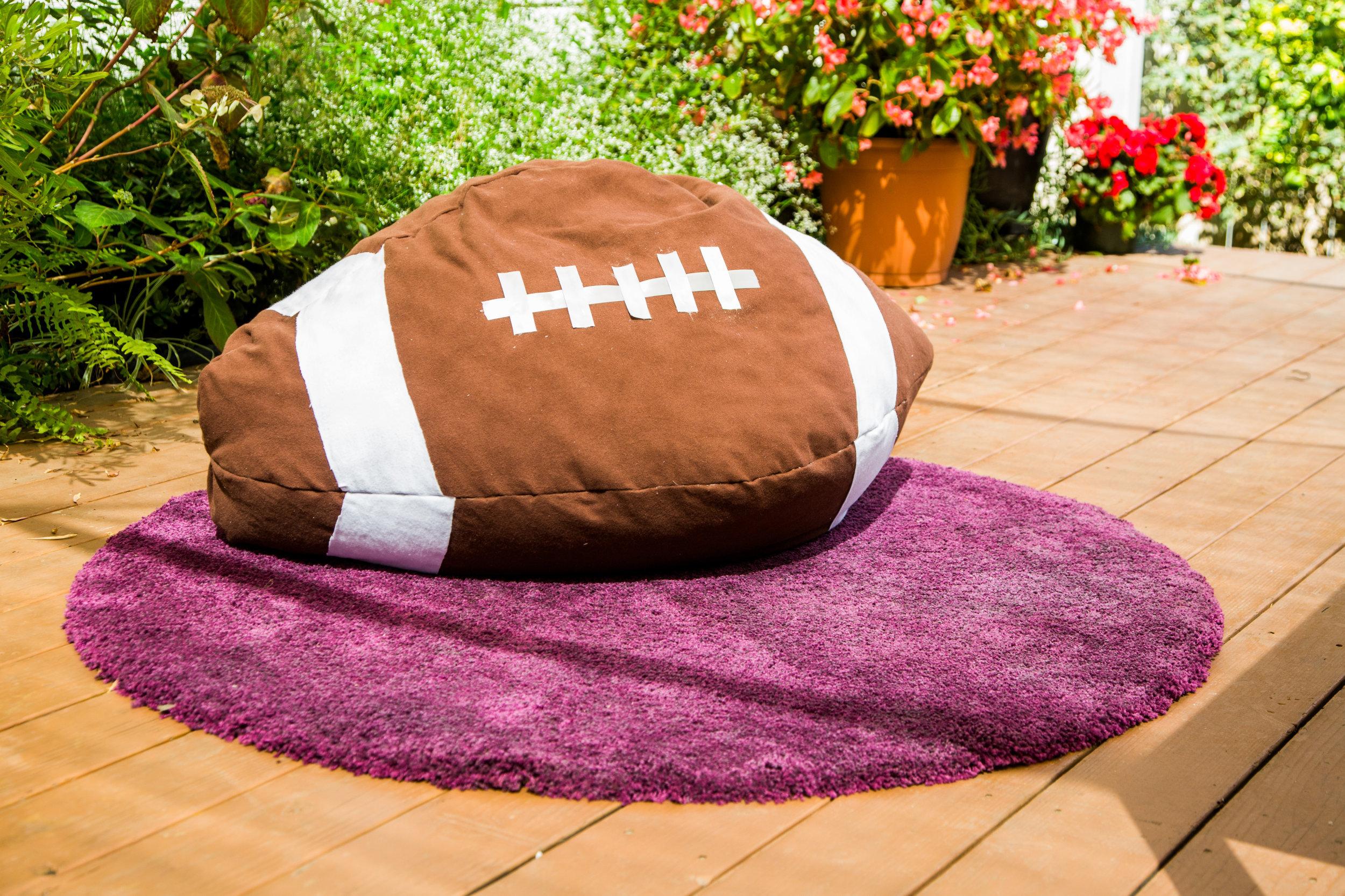 How To Home Amp Family Diy Football Bean Bag Chair