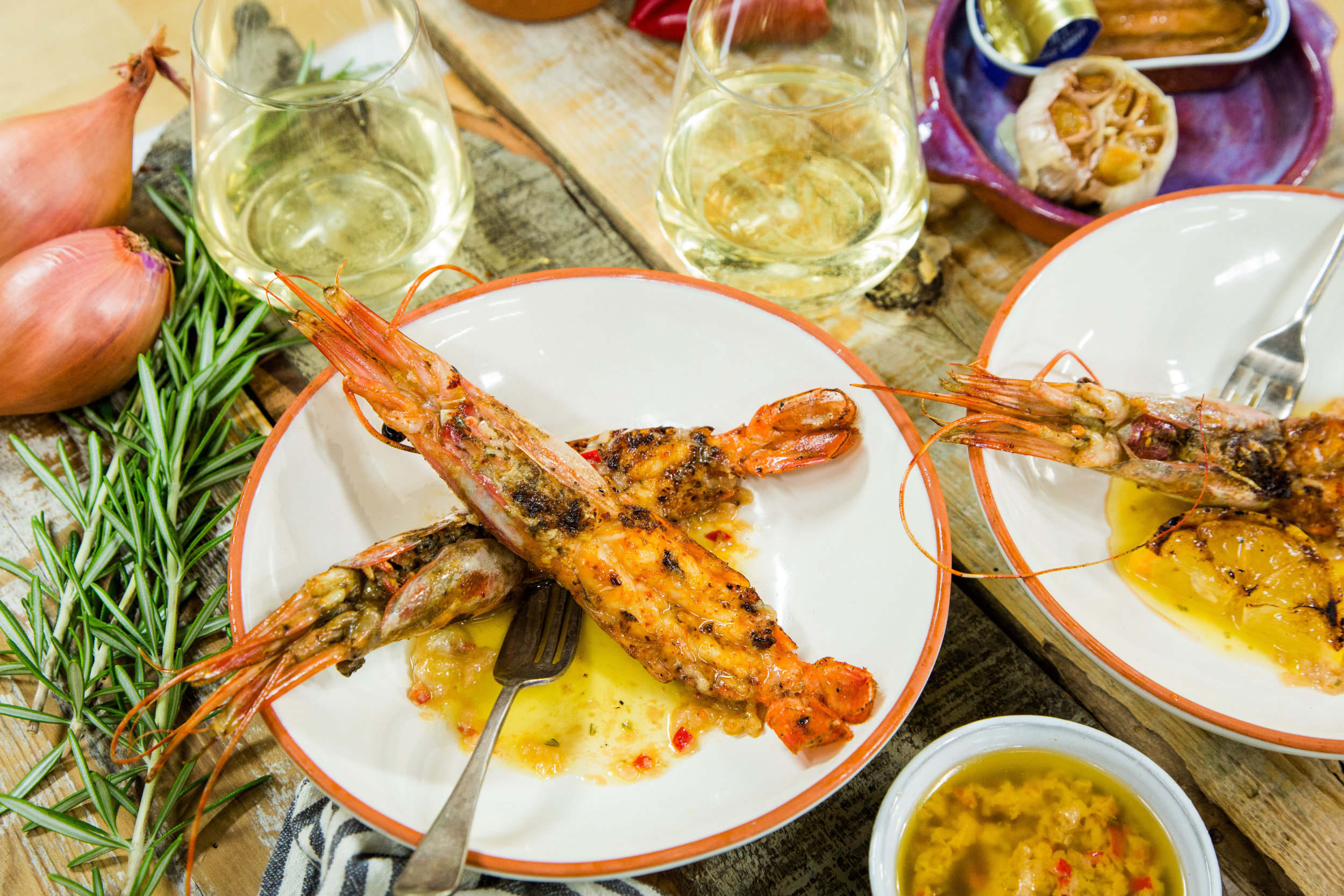 Recipe - Home & Family: Grilled Santa Barbara Spot Prawns with ...
