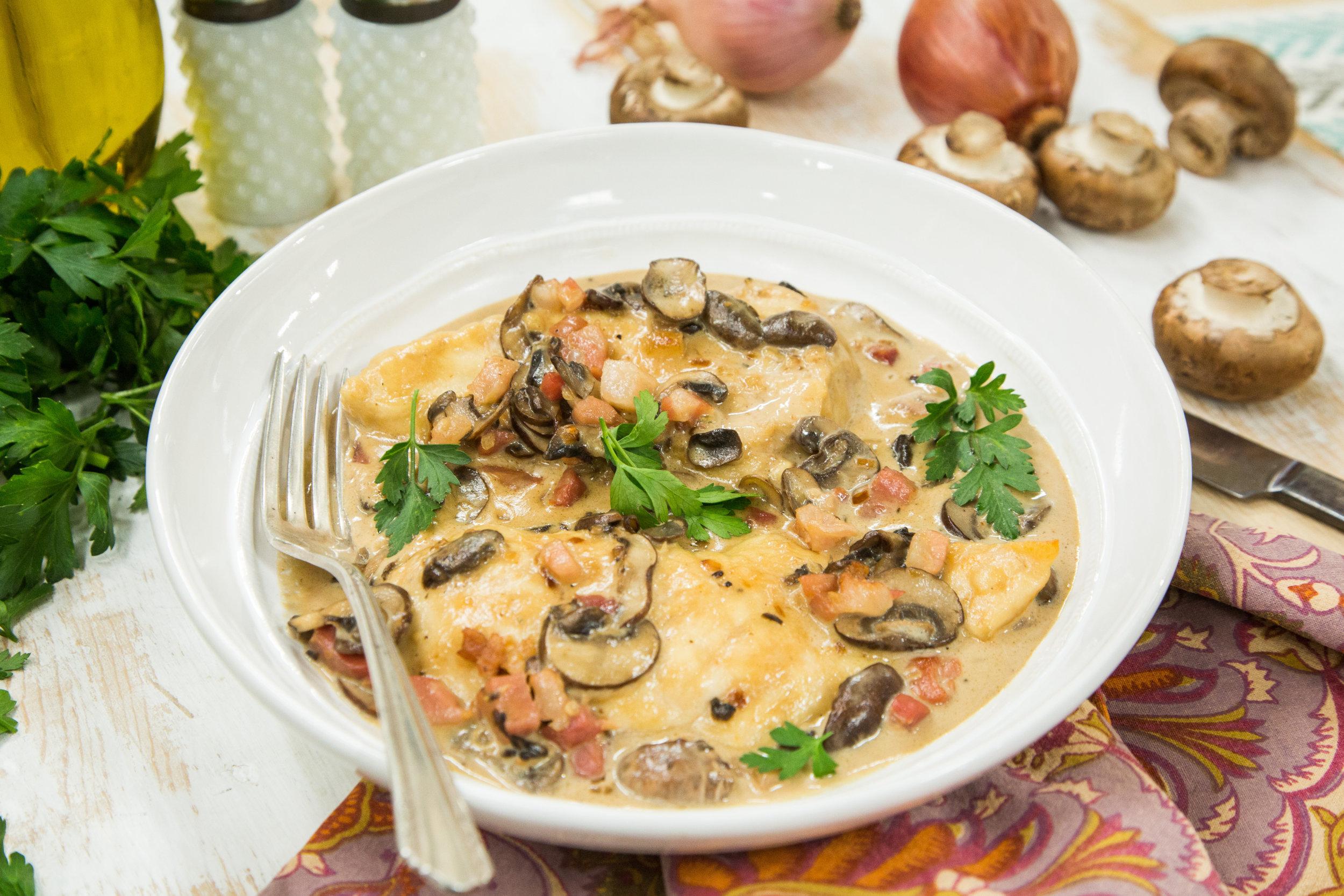 Chicken marsala with pancetta and cream recipe dishmaps for Hook fish chicken cincinnati oh
