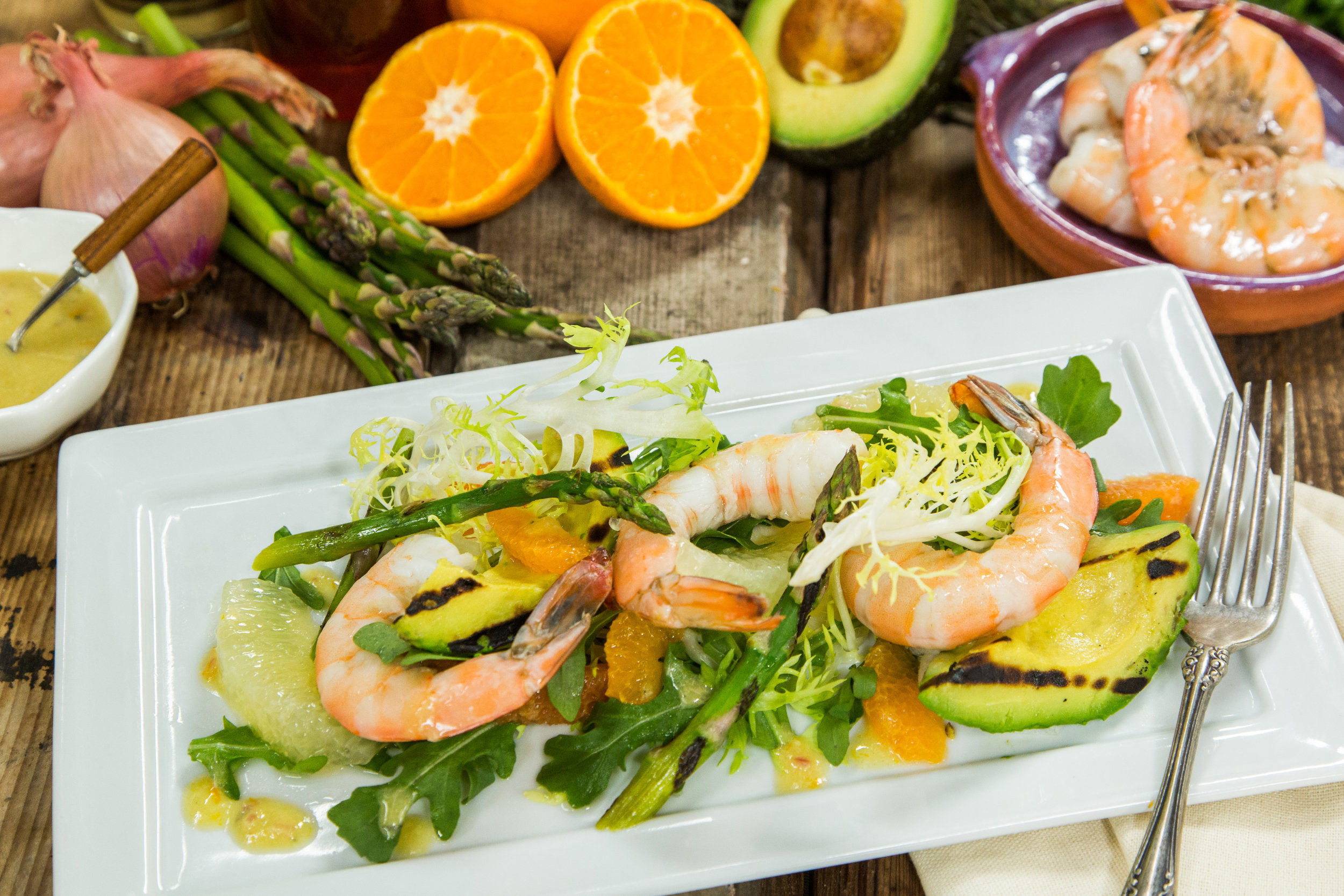 Poached Shrimp Salad with Citrus Horseradish Vinaigrette | Home ...