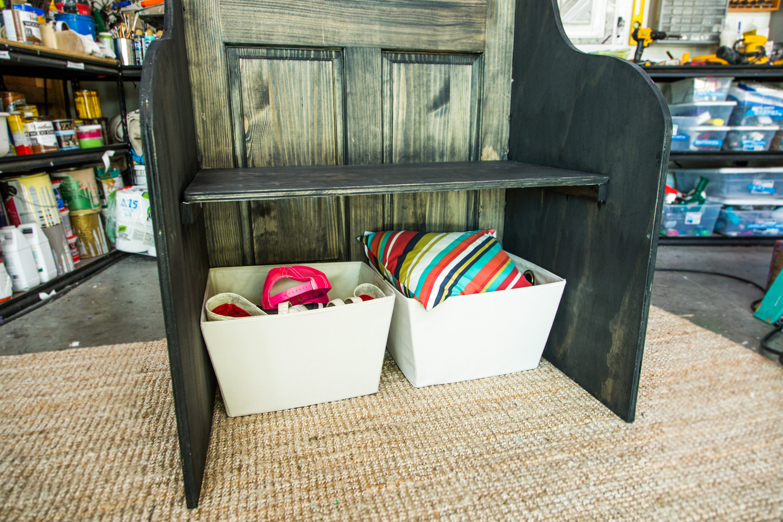 Diy entryway bench. interior contemporary design of diy bedroom ...
