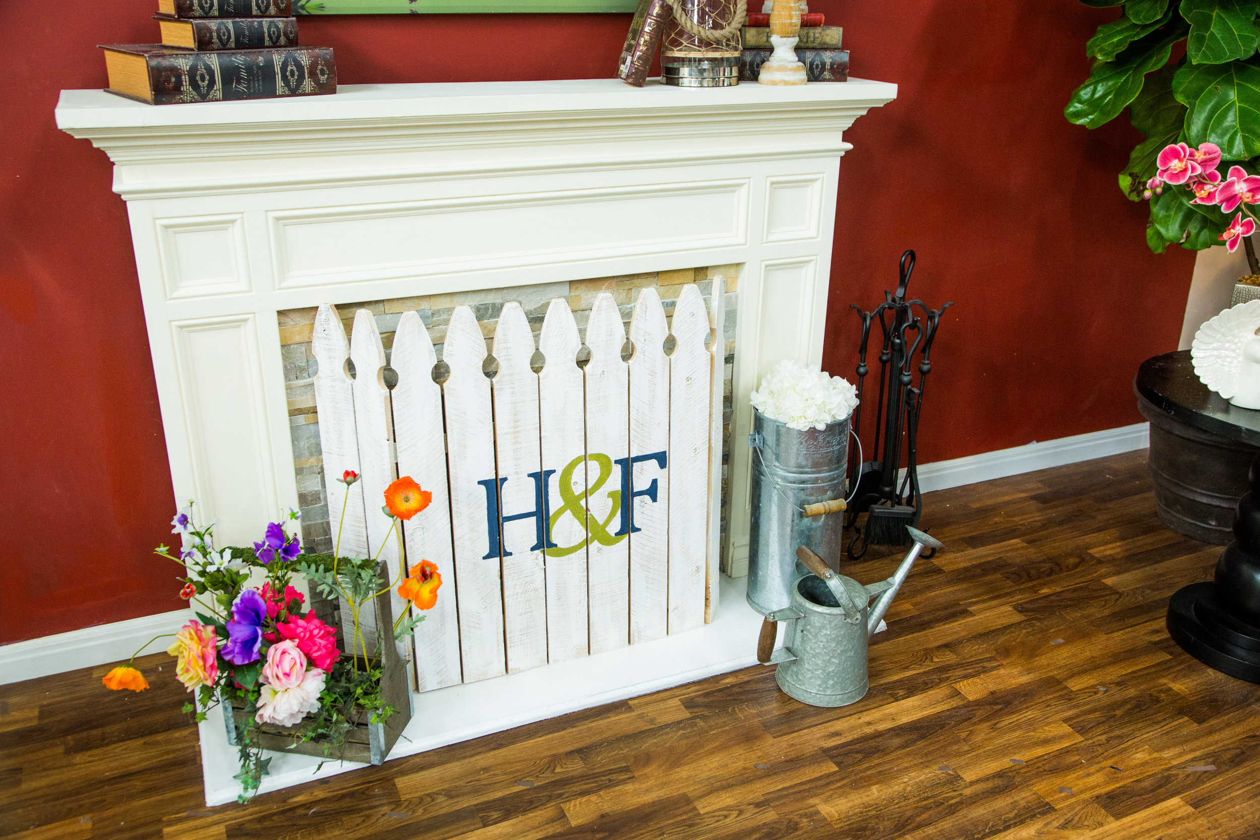 How To - Home & Family: DIY Spring Fireplace Picket Fence ...