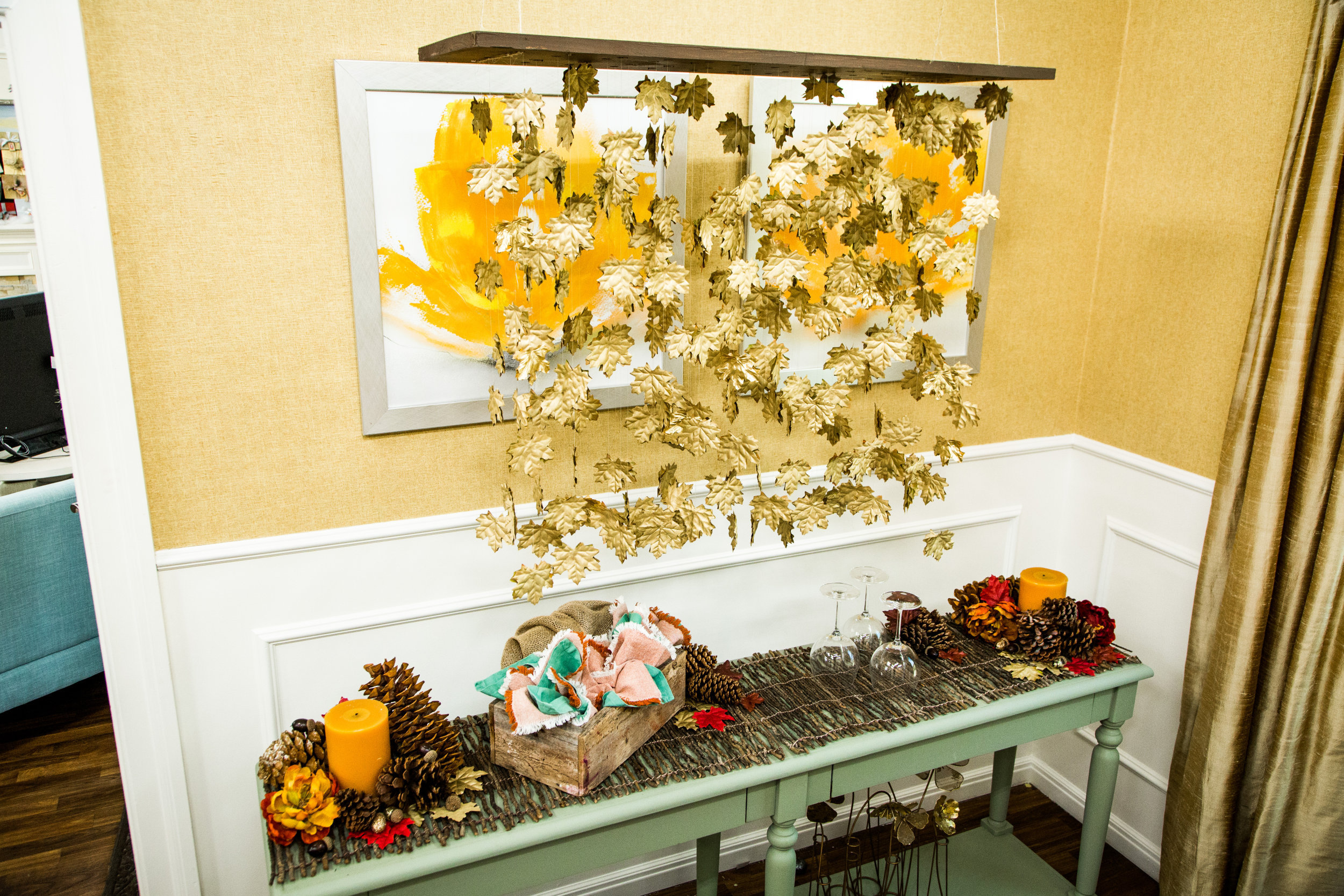 How To - Home & Family: DIY Thanksgiving Chandelier | Hallmark Channel