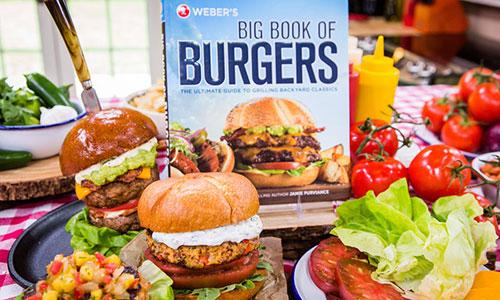 hamburger recipes from weber 39 s big book of burgers hallmark channel. Black Bedroom Furniture Sets. Home Design Ideas