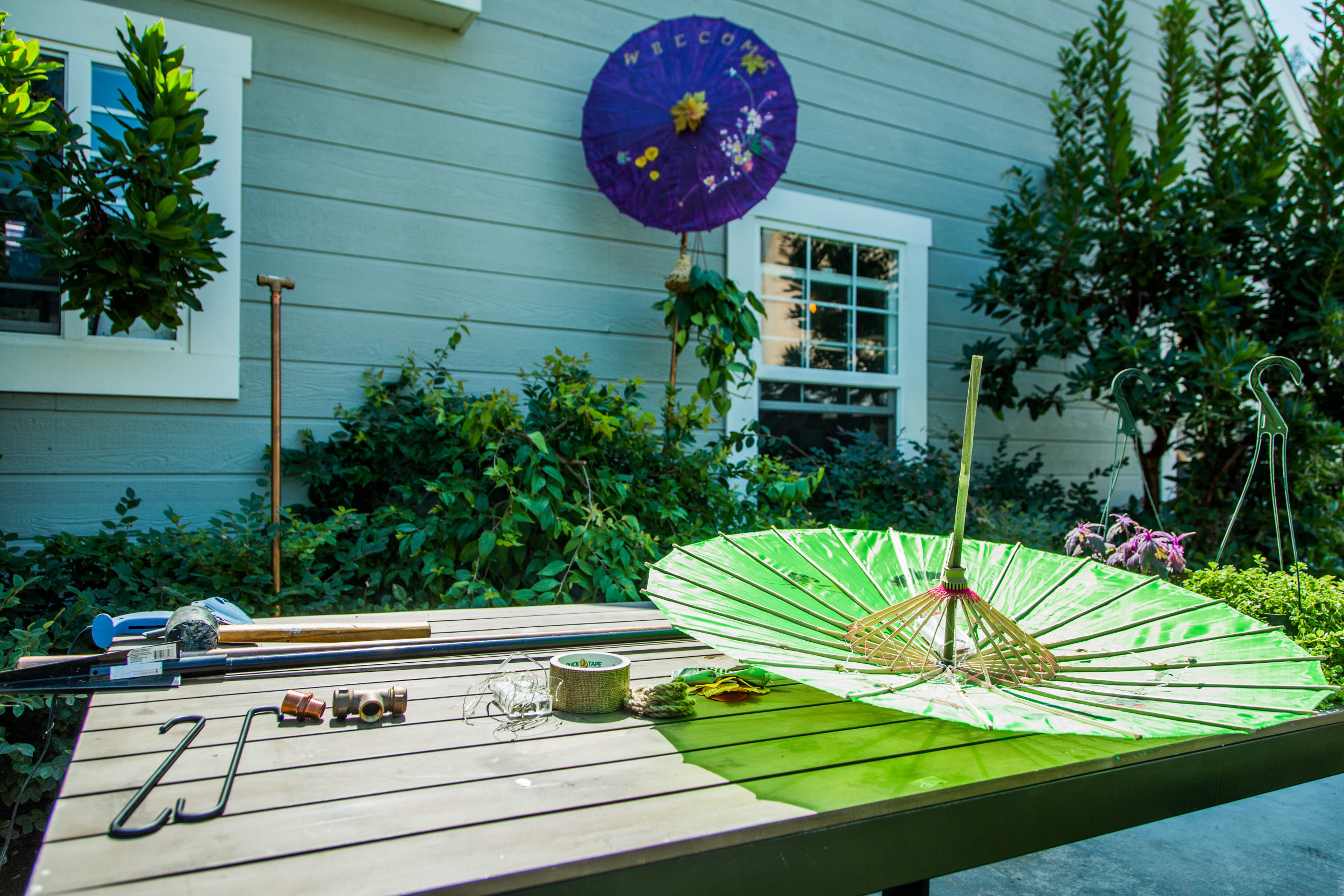 Diy Garden Parasol Sculptures Home Family Hallmark Channel
