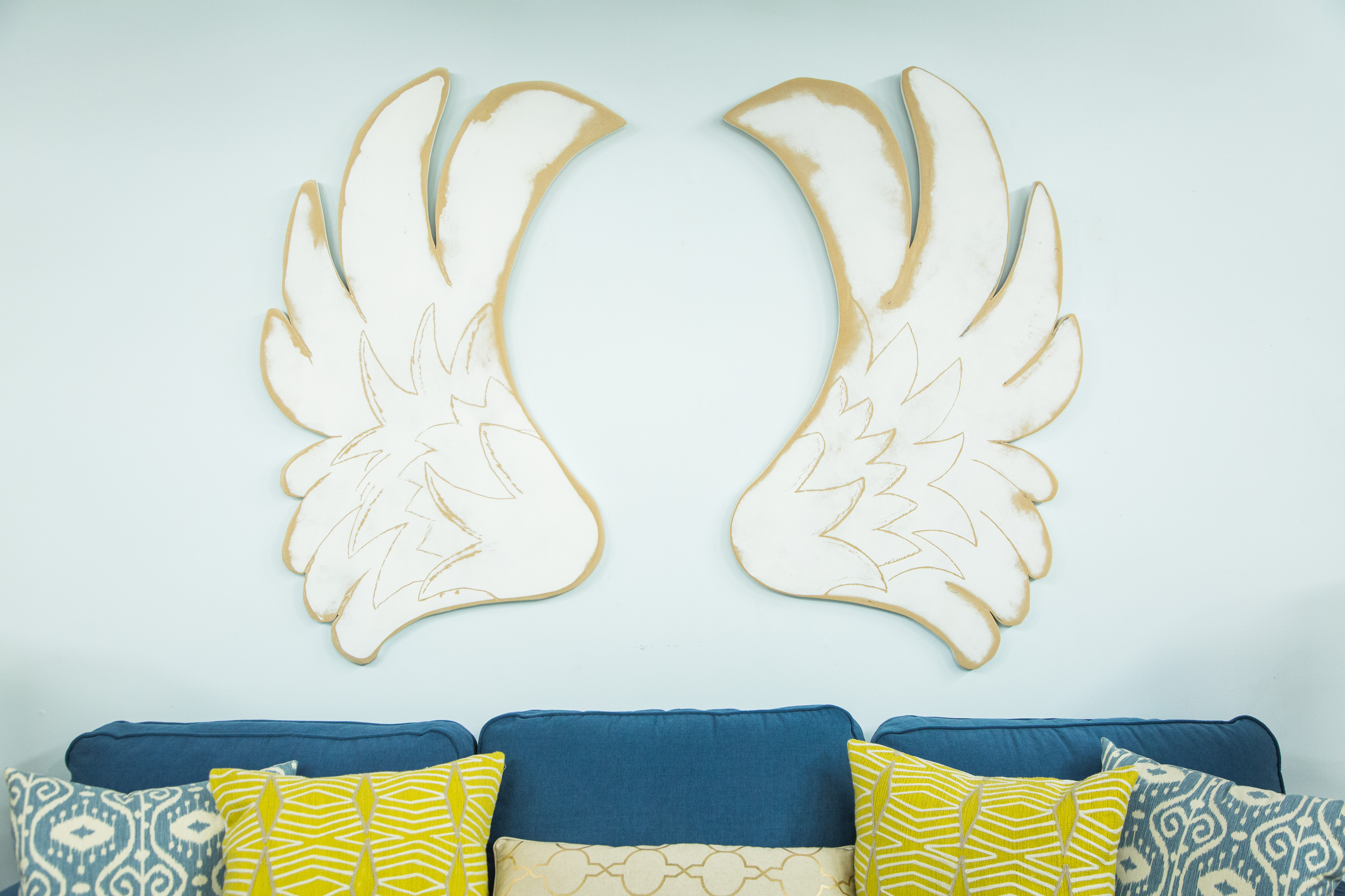 Angel Wings Wall Art how to - diy angel wings wall art | home & family | hallmark channel