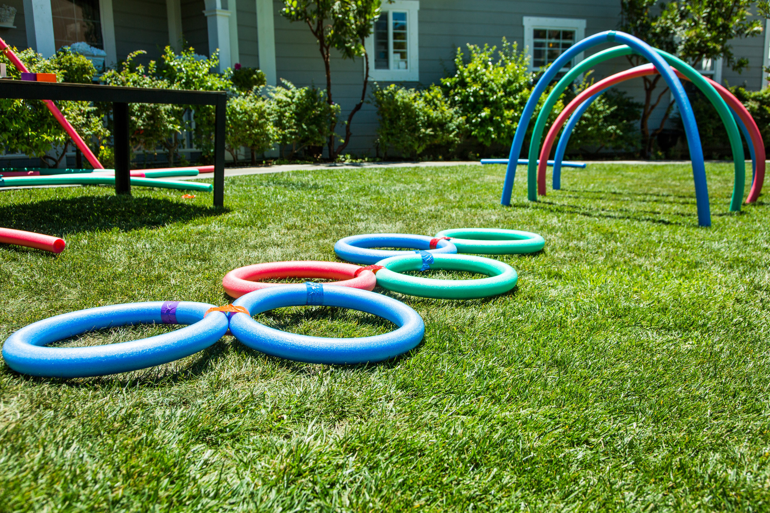 How To Home & Family DIY Backyard Fun with Pool Noodles