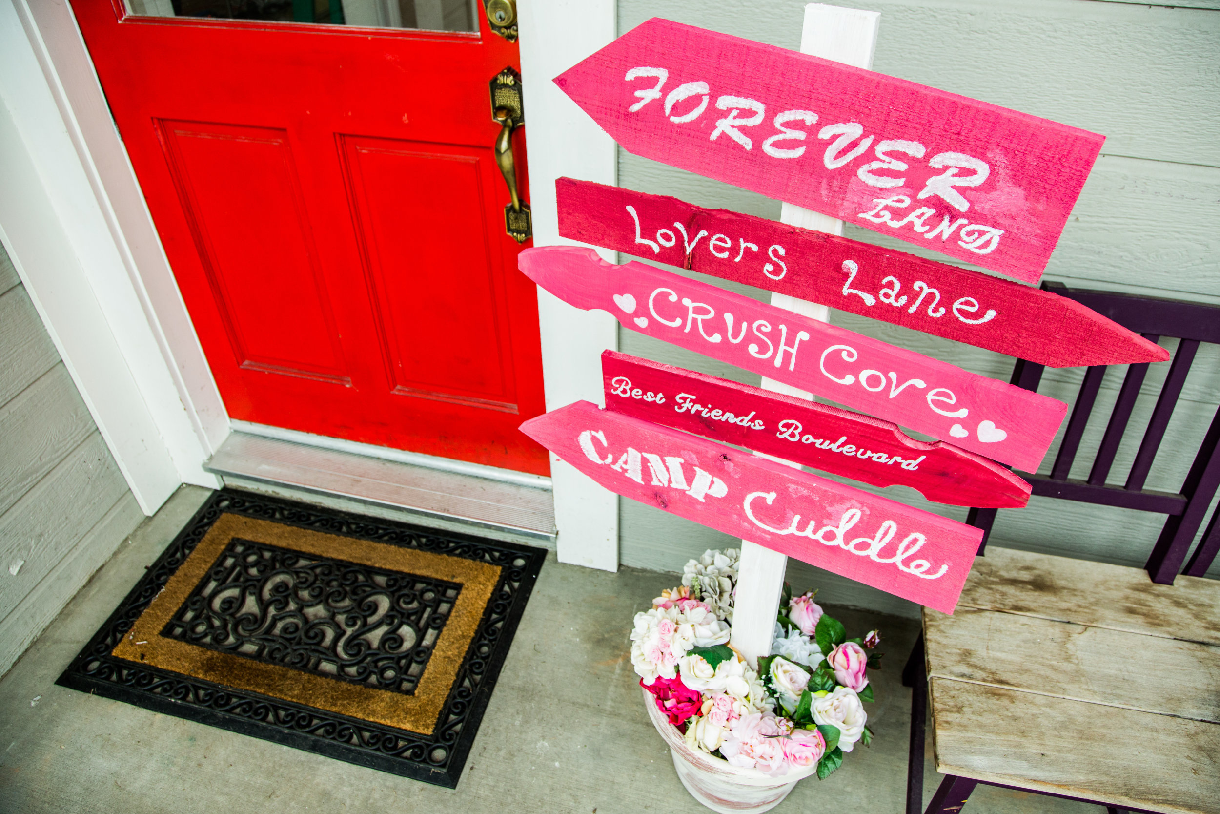 How To   DIY Valentineu0027s Day Sign Post | Home U0026 Family | Hallmark Channel