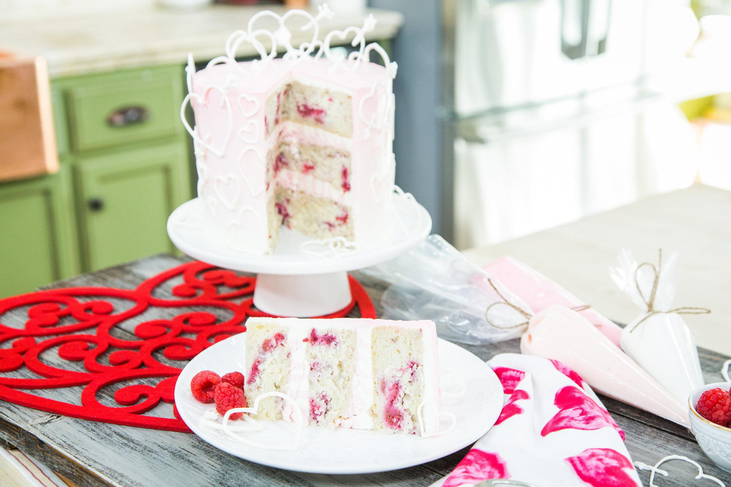 White Chocolate Raspberry Valentine\'s Cake   Home & Family ...