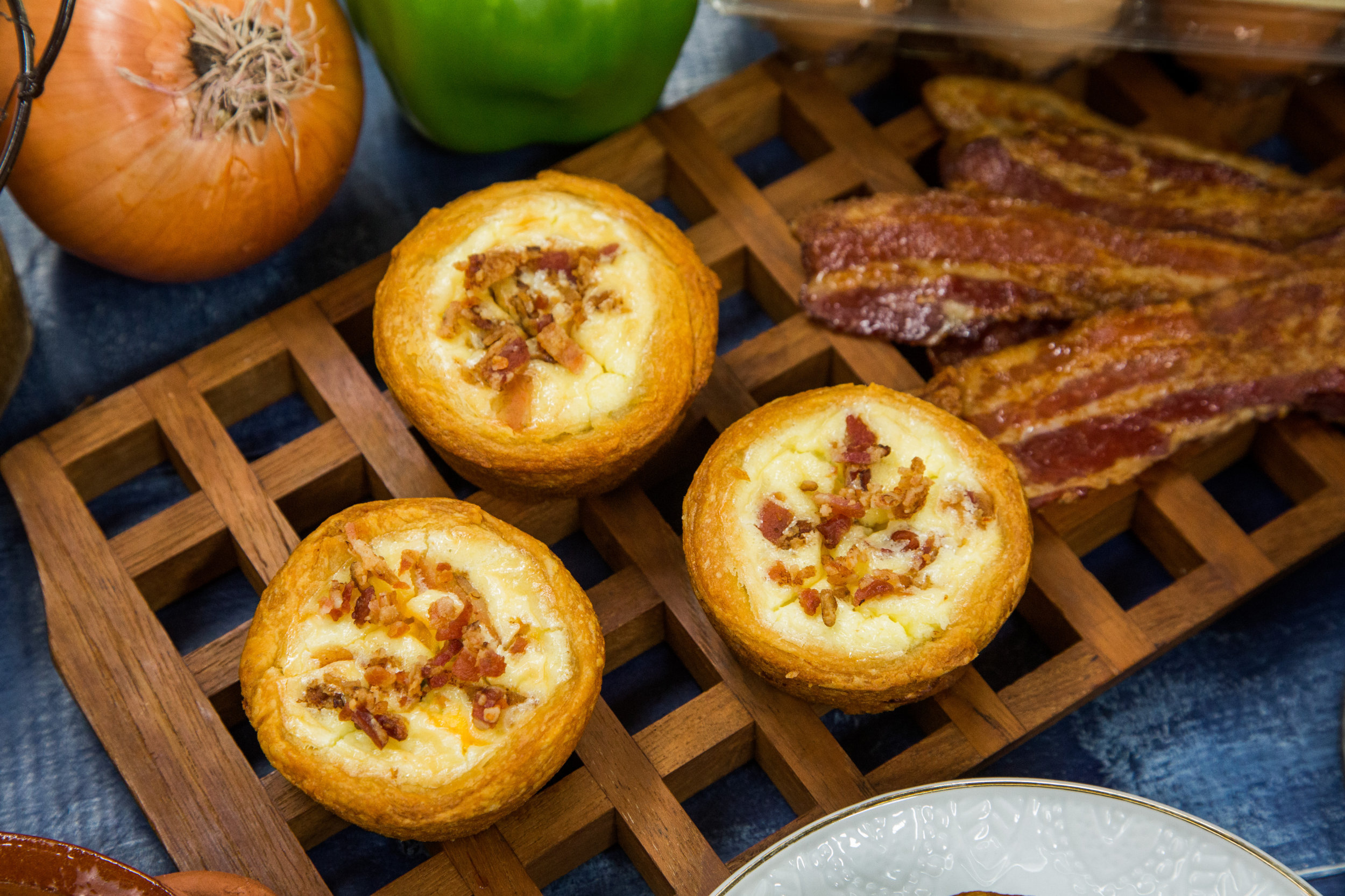 Bacon Quiche Tarts Recipe — Dishmaps