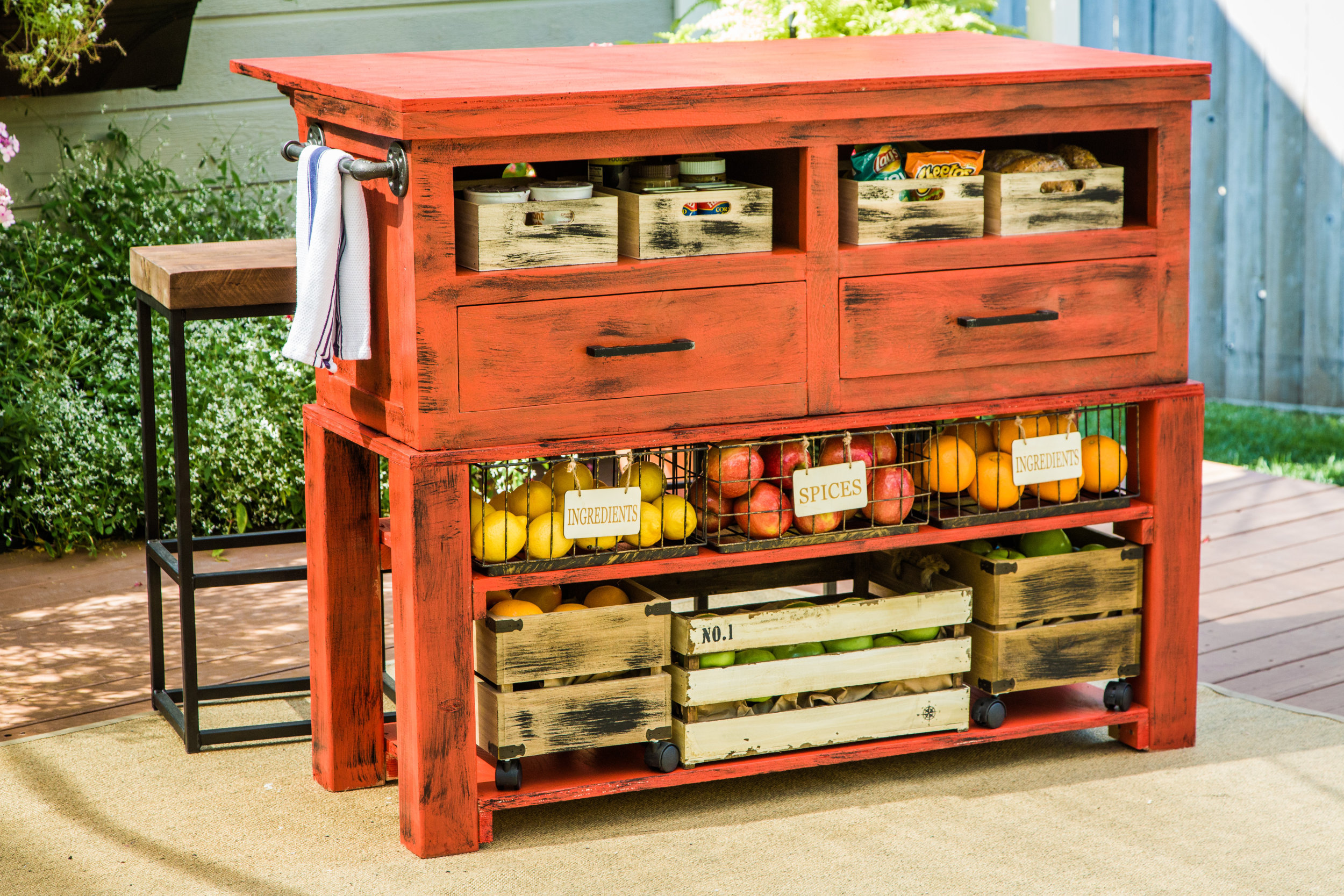 How To Home & Family DIY Kitchen Island
