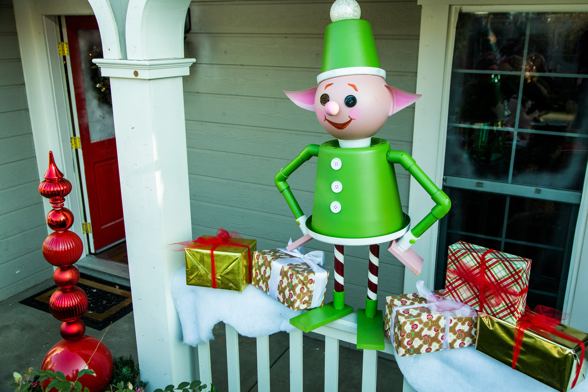 Diy lawn elves home family hallmark channel for Christmas yard ornaments