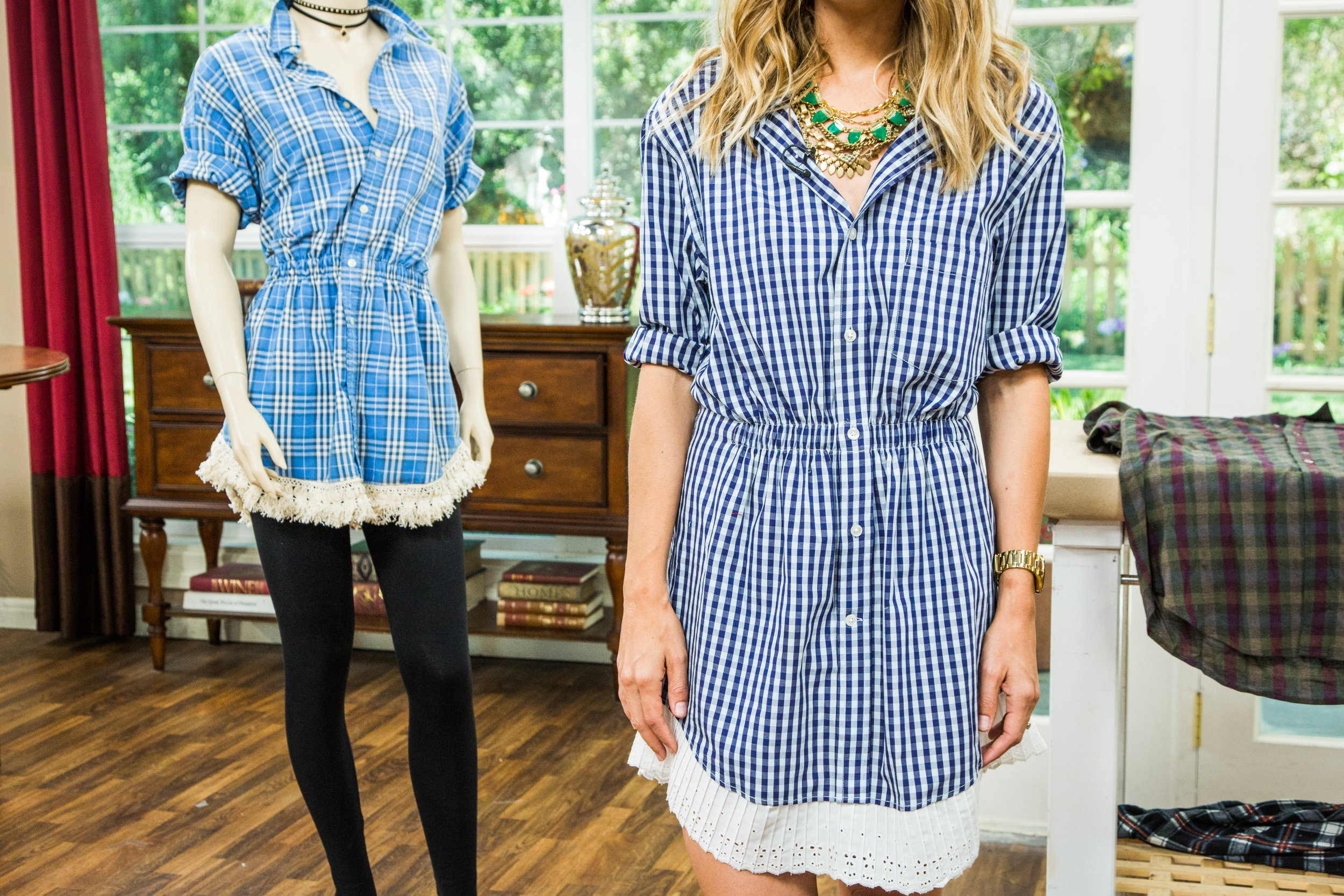 How to home family diy shirt dress hallmark channel for Make a dress shirt