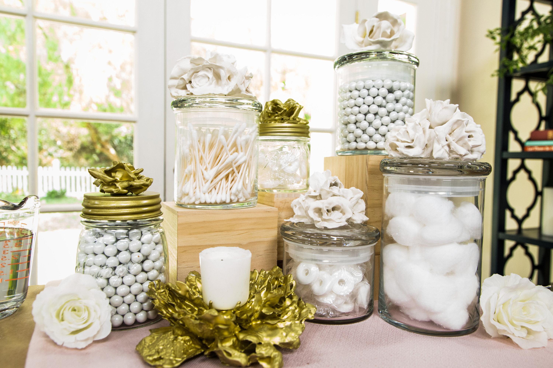 How To - DIY Flower Top Bathroom Jars | Hallmark Channel