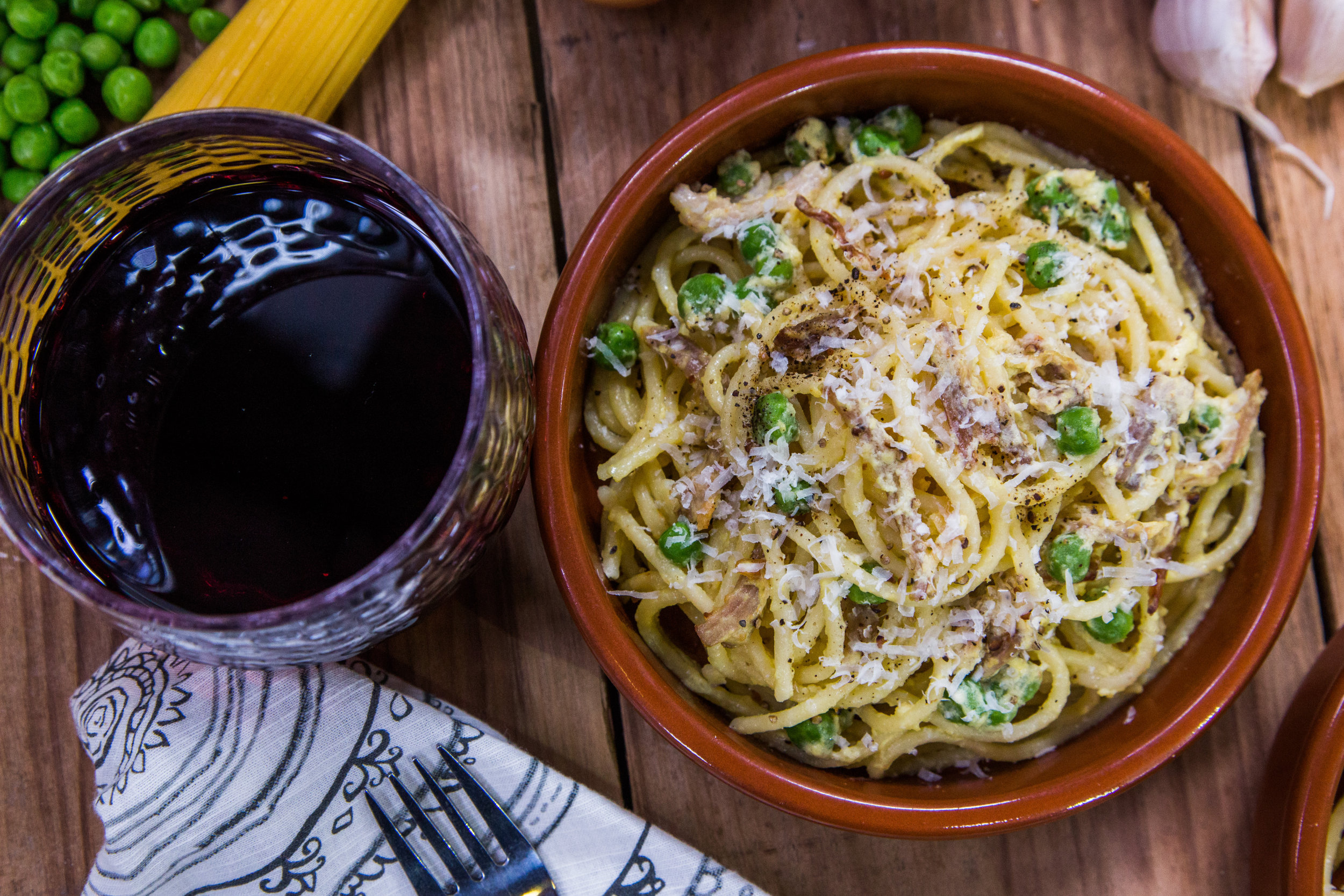 Spaghetti Carbonara with Pork Belly and Fresh Peas | Home & Family ...