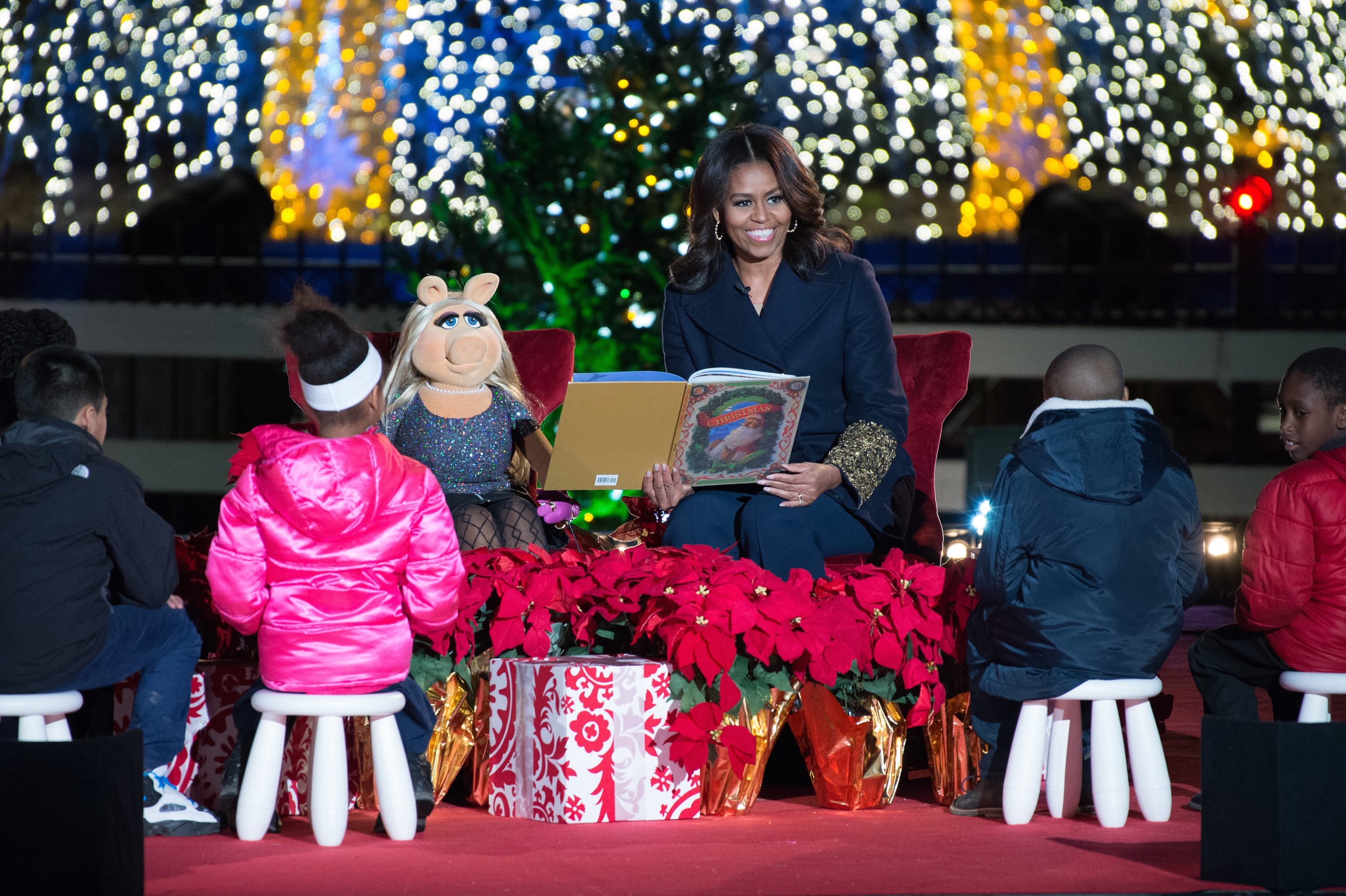 "Highlights - First Lady Michelle Obama reads ""'Twas the ..."