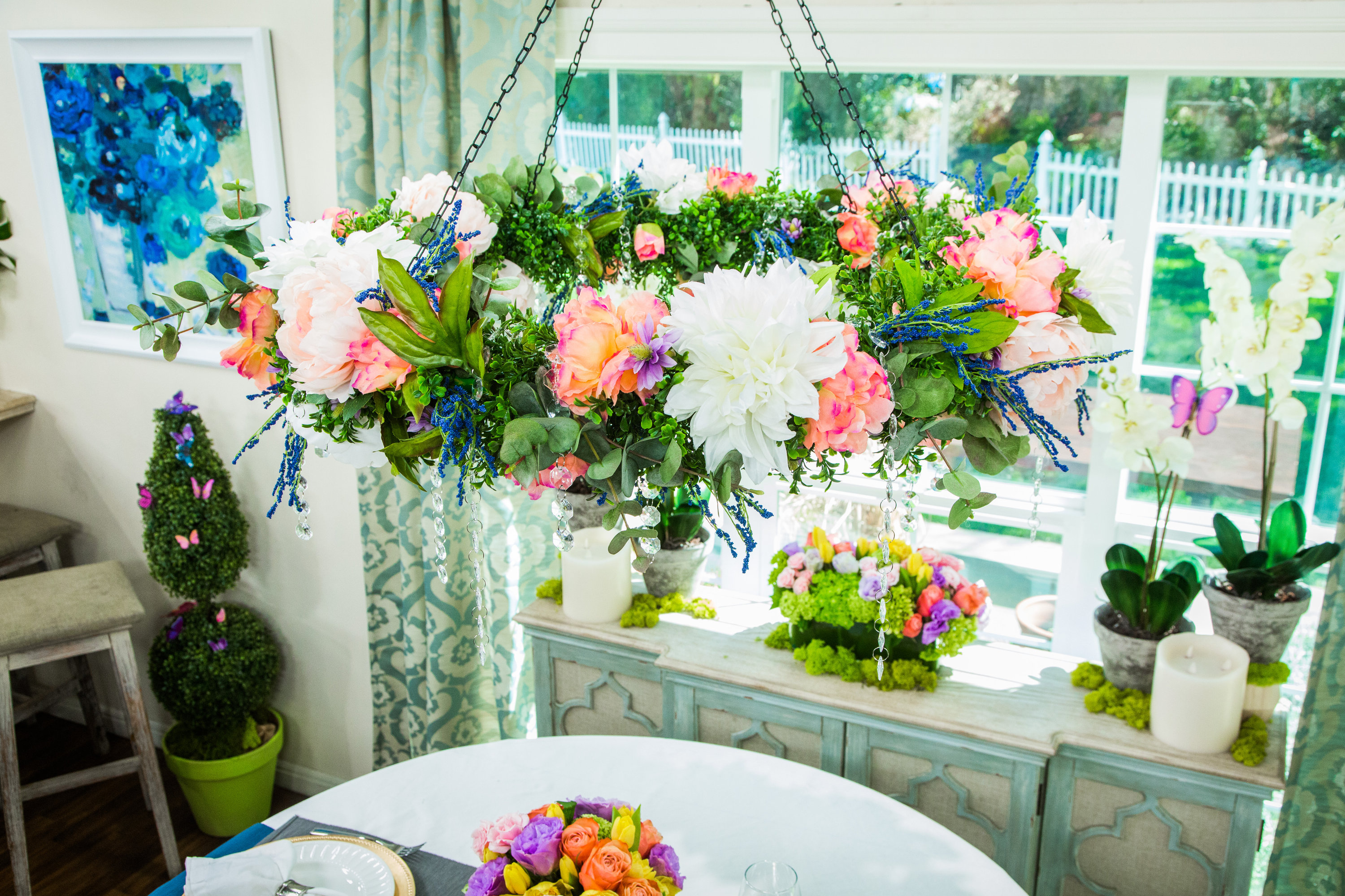 How to diy floral chandelier hallmark channel aloadofball Gallery