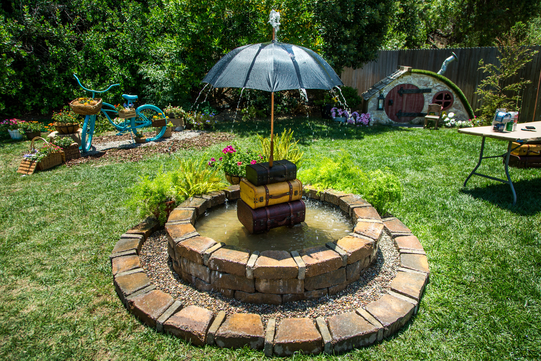 Diy Whimsical Umbrella Fountain How To Hallmark Channel