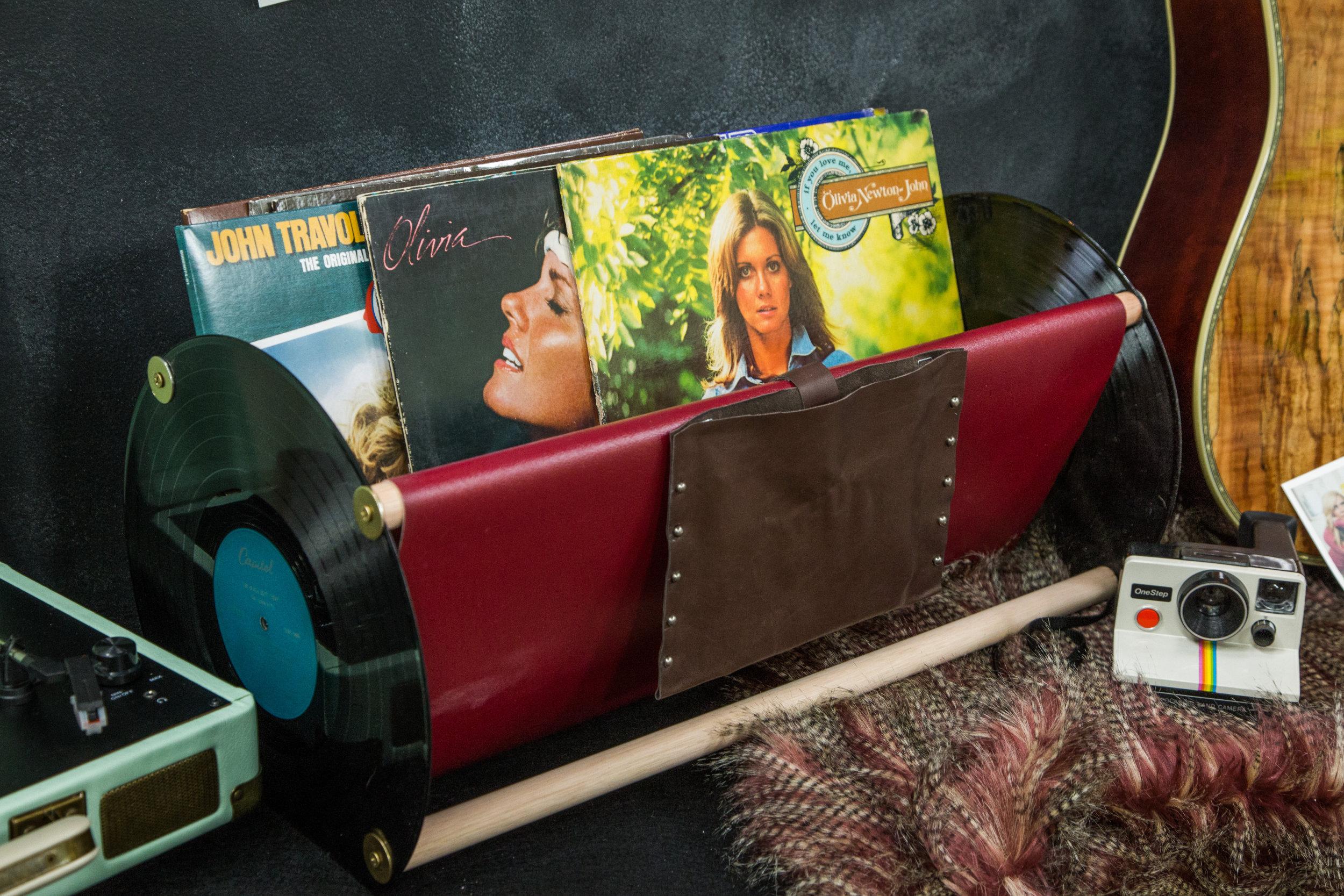 diy vinyl record storage home family hallmark channel. Black Bedroom Furniture Sets. Home Design Ideas
