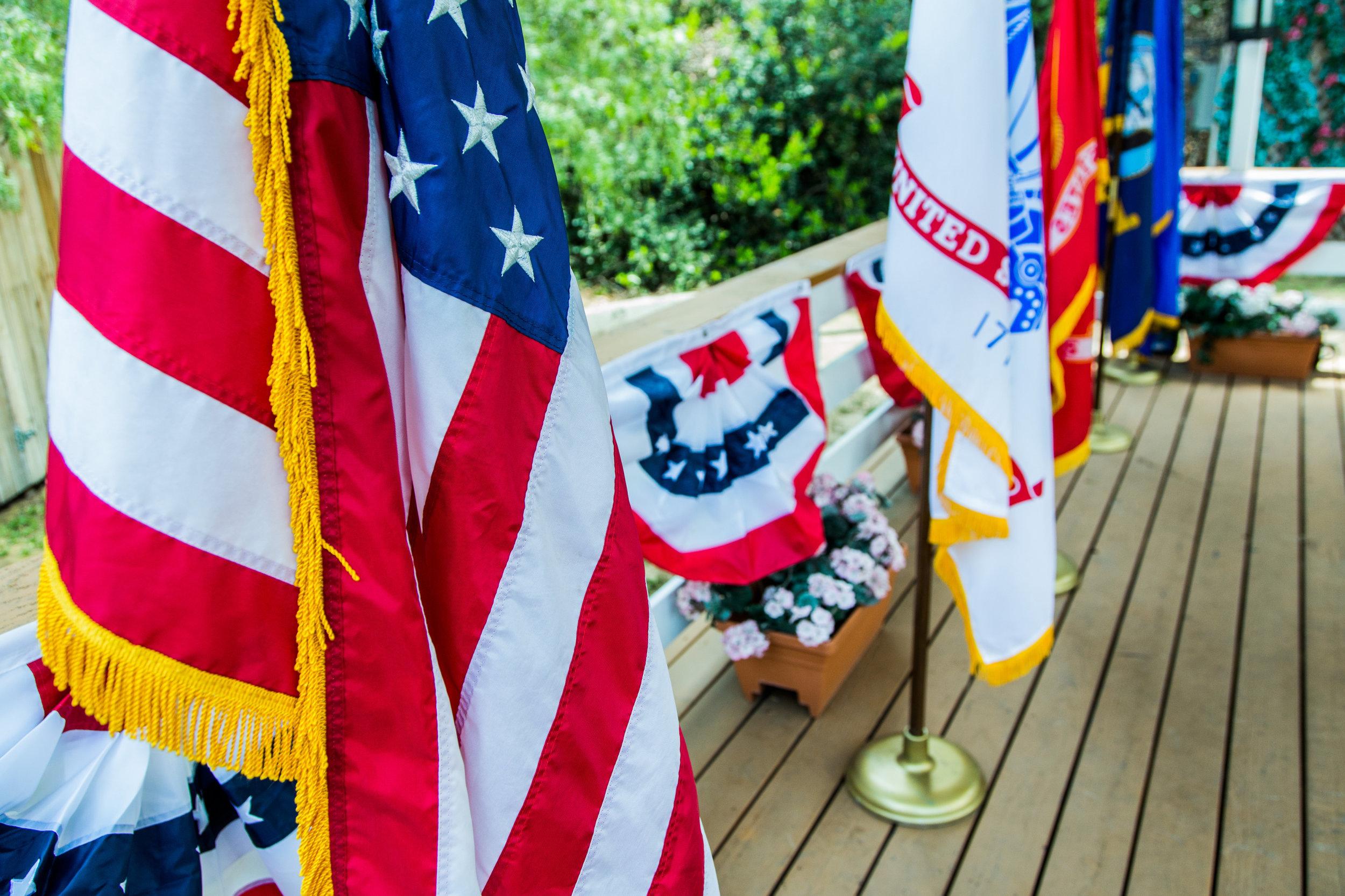 How to flag folding etiquette home family hallmark for Flag etiquette at home
