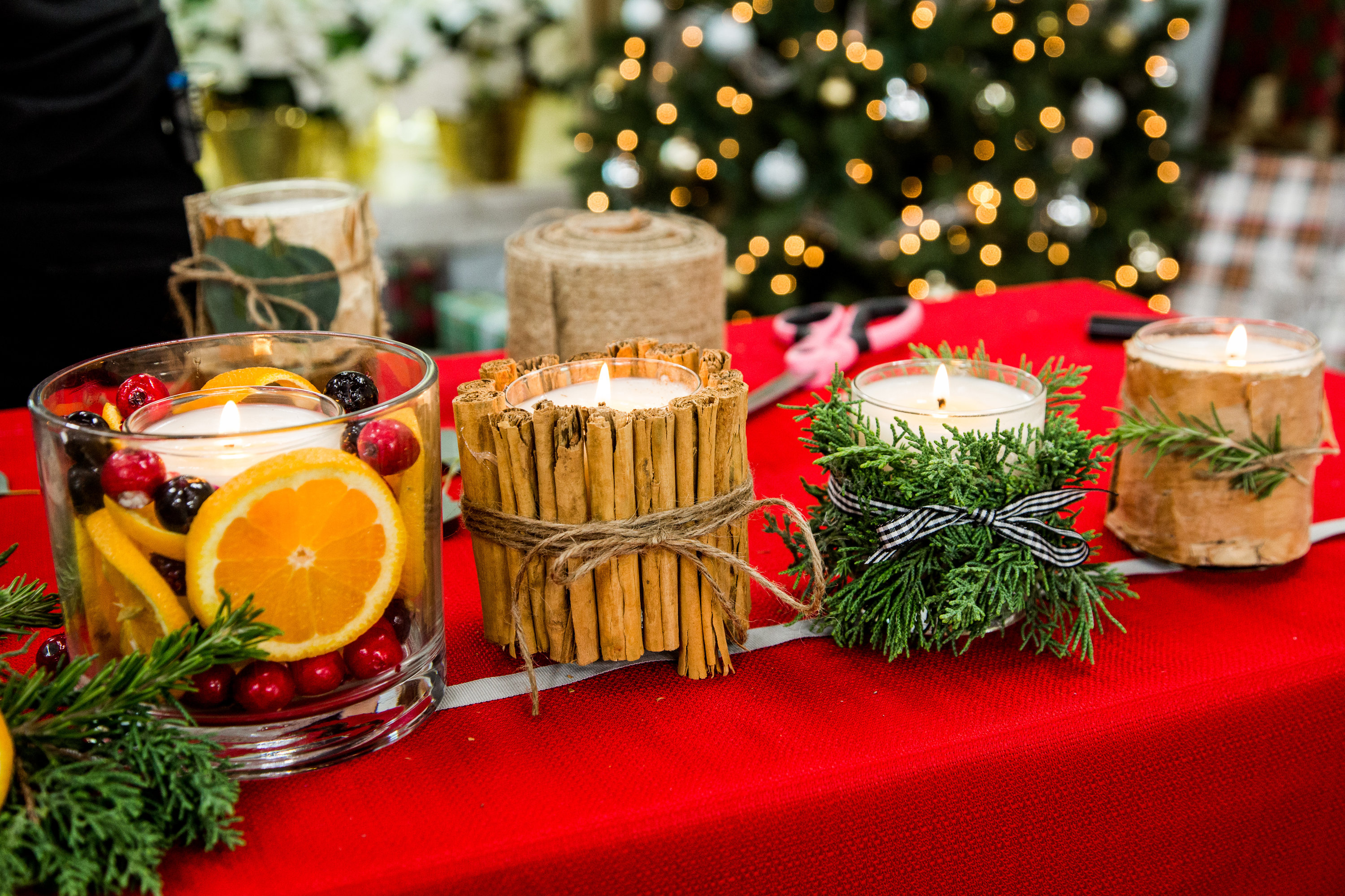 How To - DIY Christmas Candles