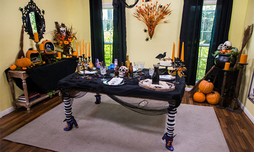 Cristina Crafts Diy Halloween Themed Party Room Home