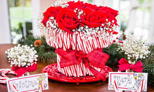 Cristina crafts candy cane vase hallmark channel