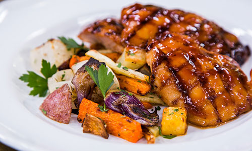 Huli-Huli Chicken & Roasted Root Veggies | Hallmark Channel