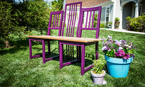 Cycling chairs into a garden bench with tamara berg hallmark channel Home channel gardening