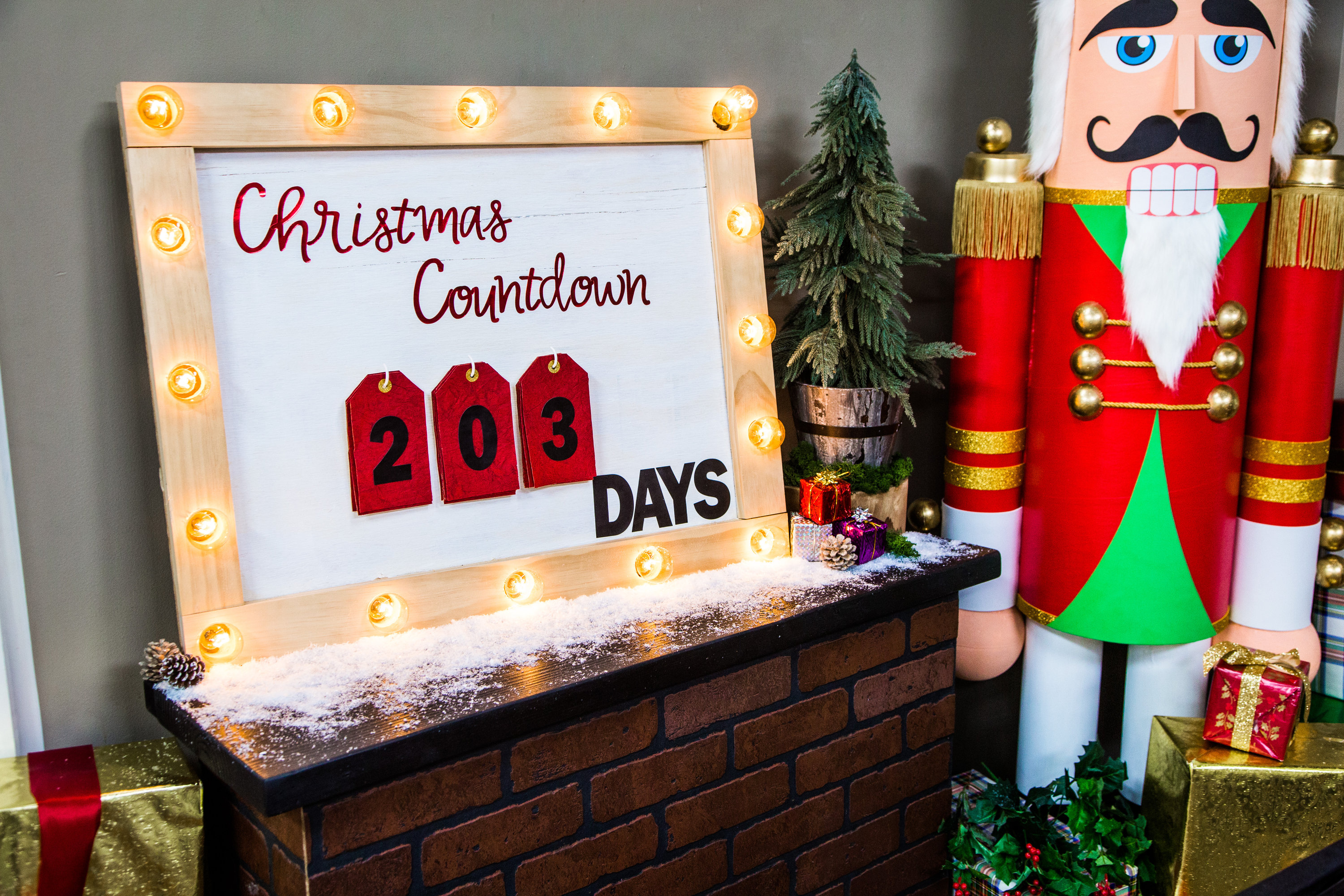 How To Christmas Countdown Marquee