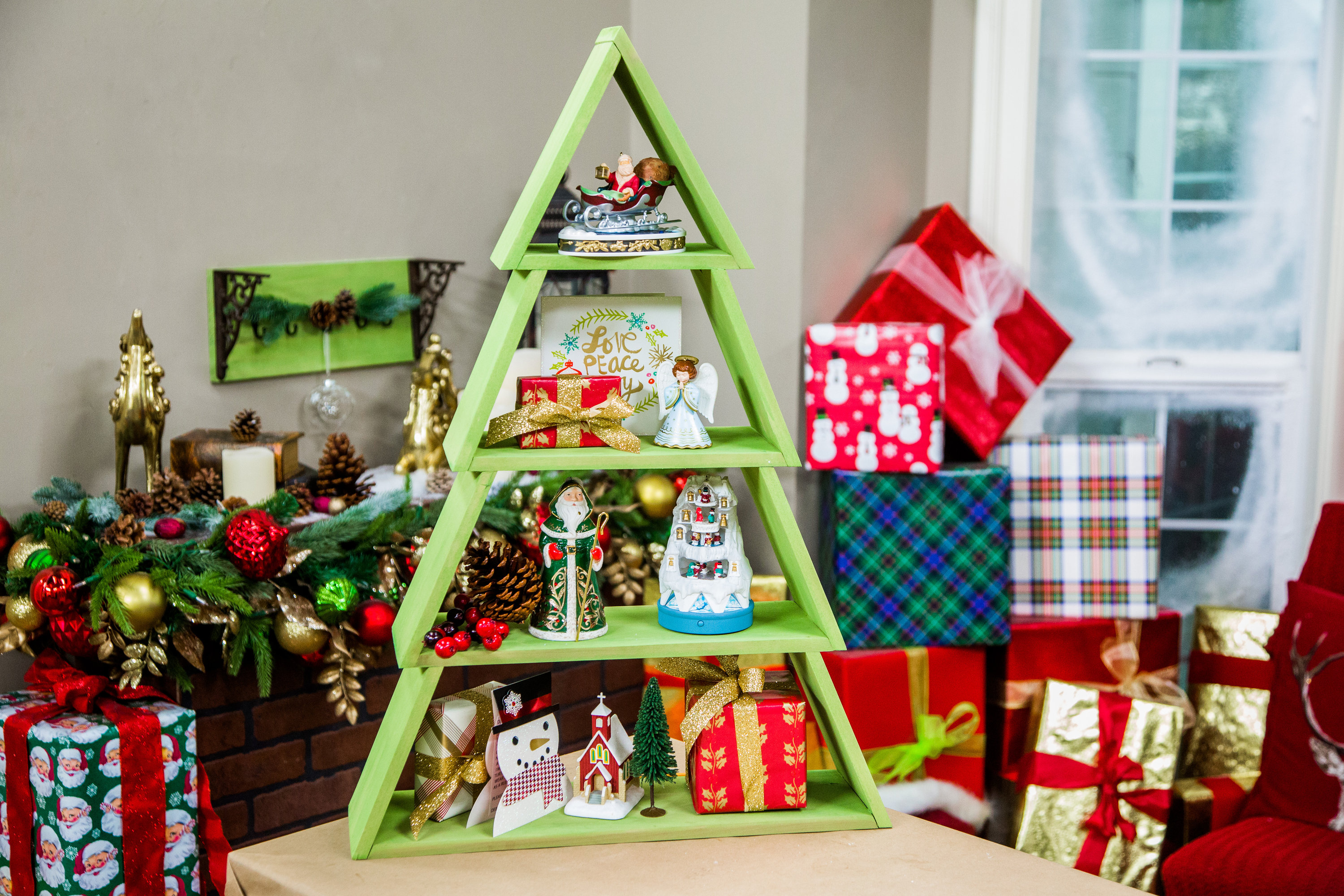 how to diy christmas tree shelf hallmark channel