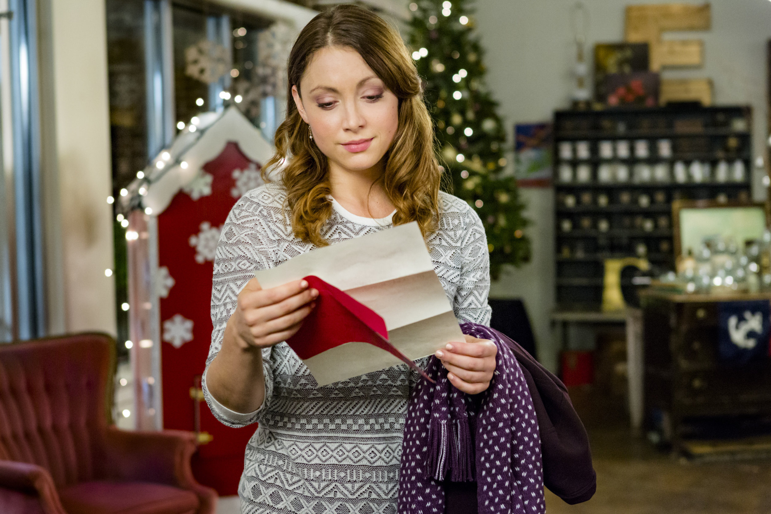 The Christmas Note.Leah Gibson As Melissa In The Christmas Note Hallmark