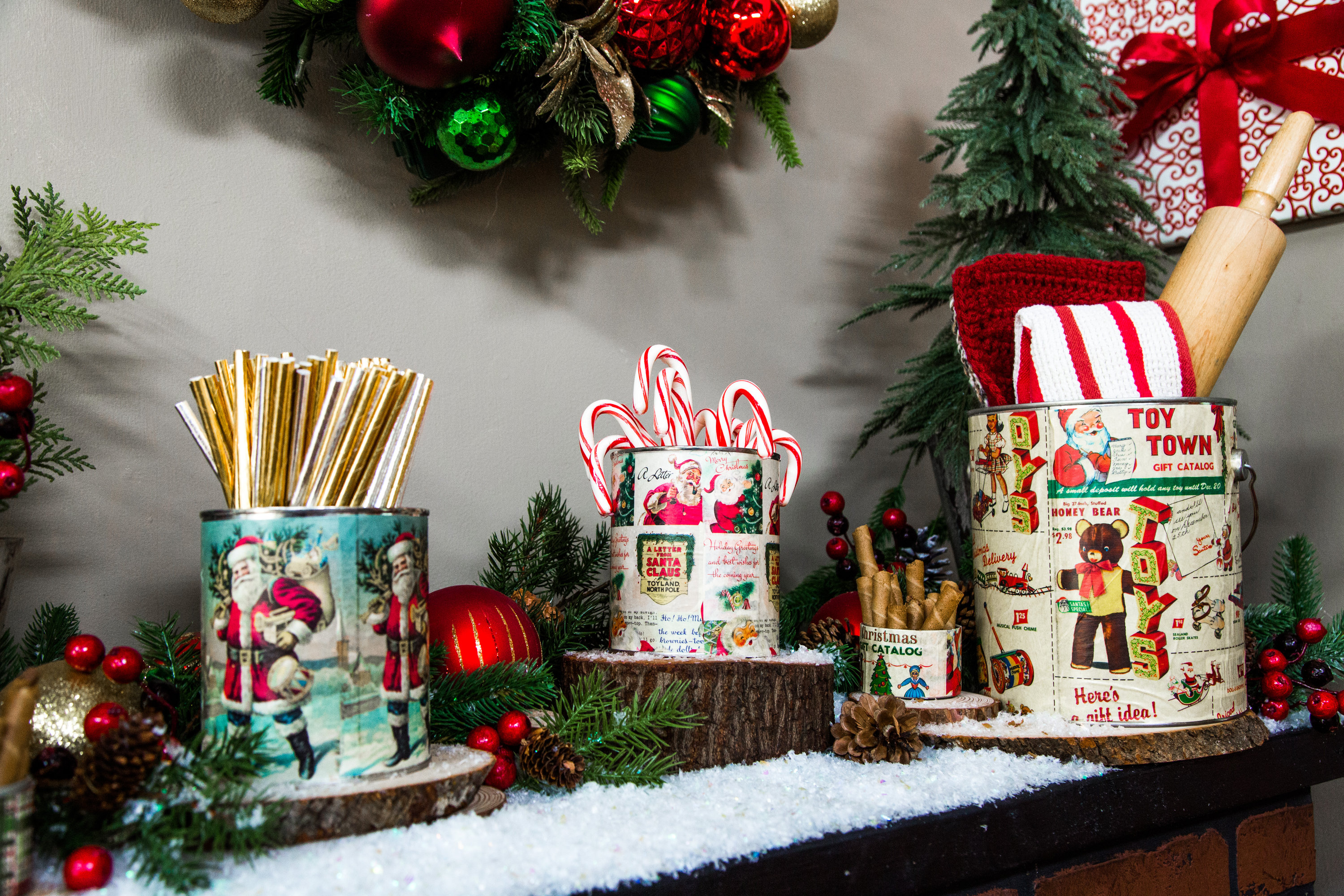 how to diy vintage christmas tins hallmark channel