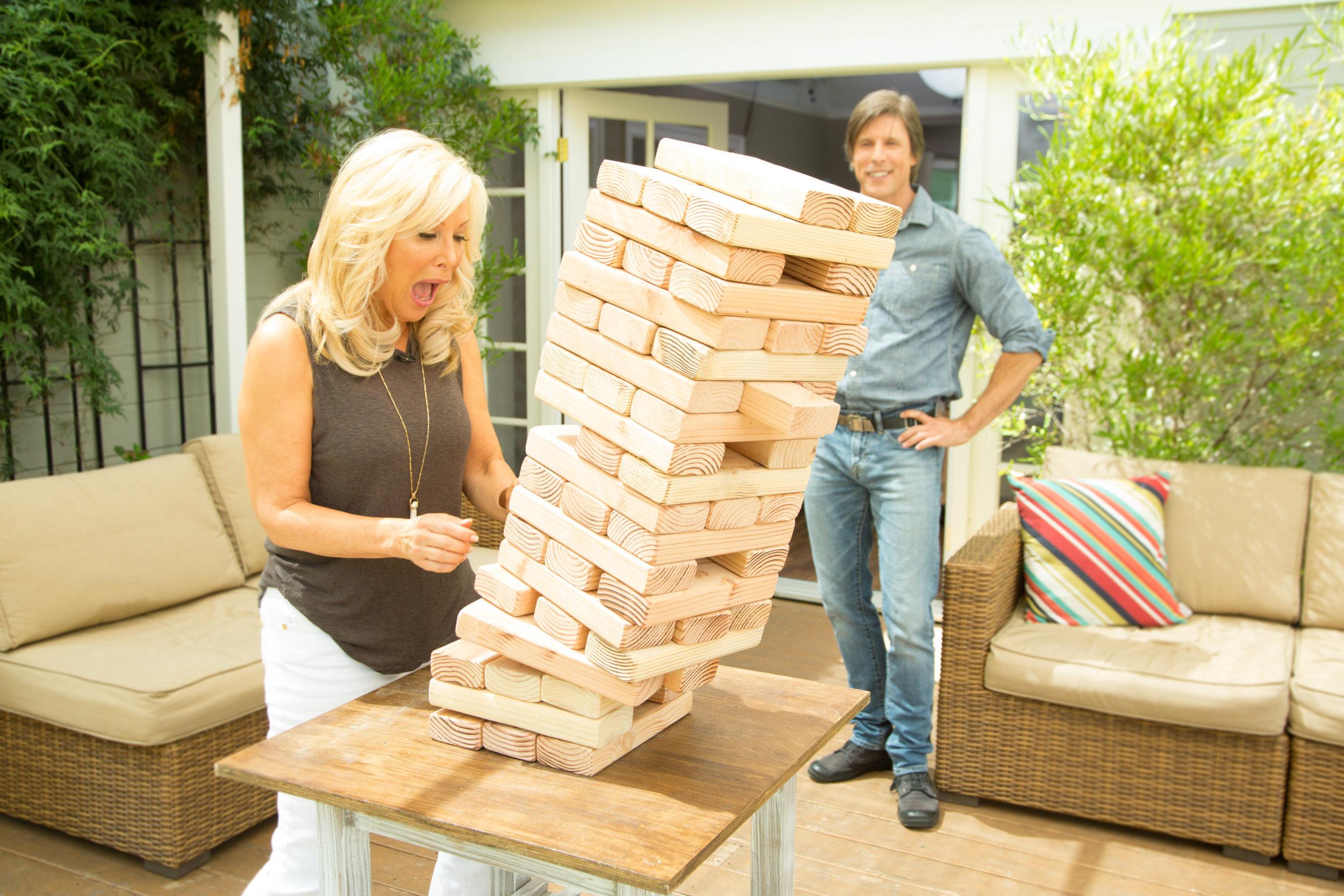 How To - DIY Giant Jenga Game   Home & Family   Hallmark ...