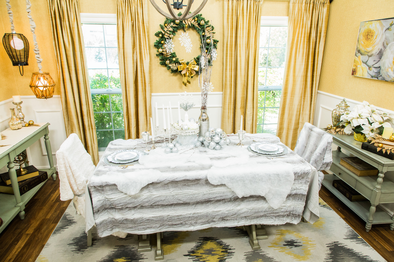 DIY Winter Wonderland Tablescape