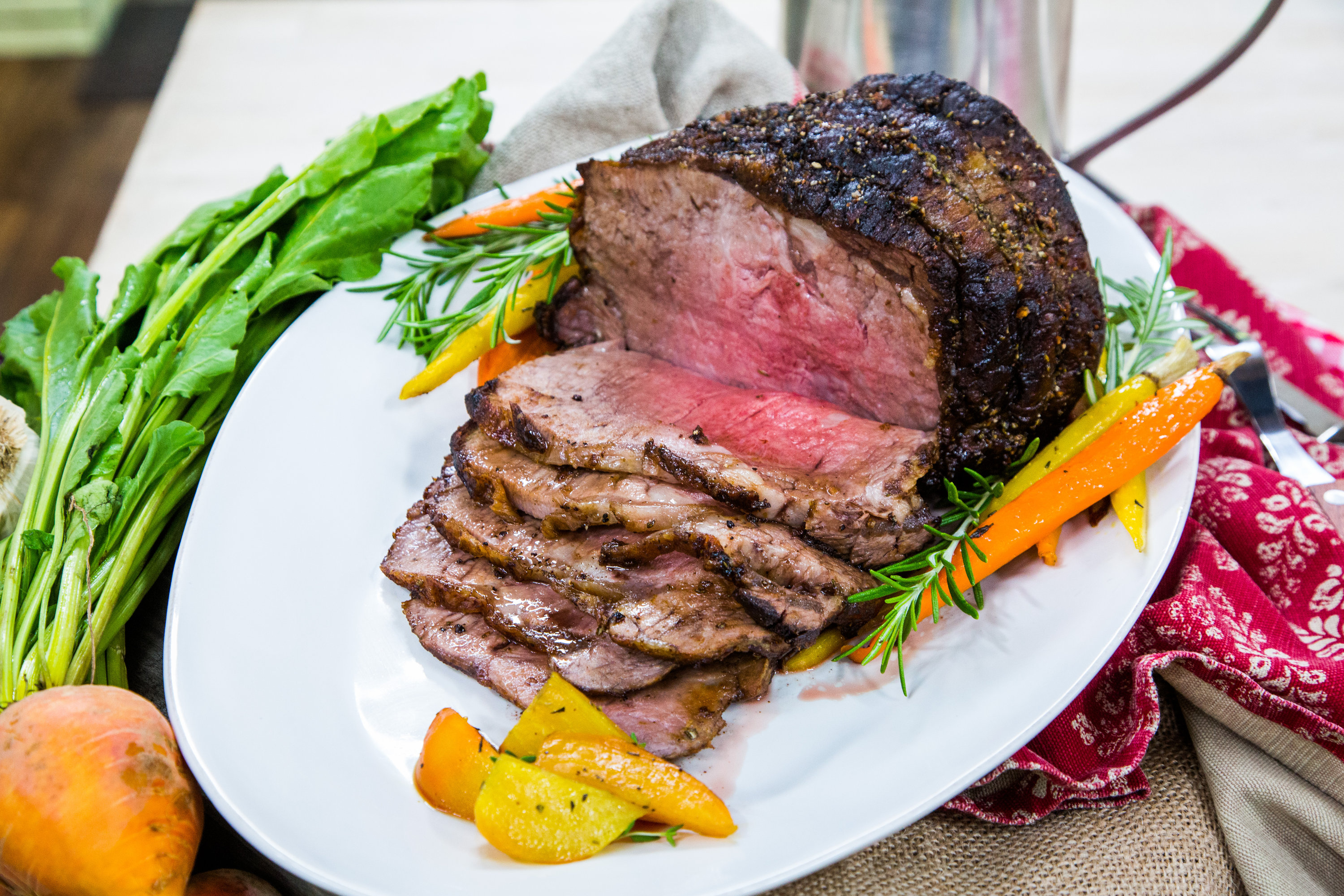 Holiday Roast Beef With Root Vegetables